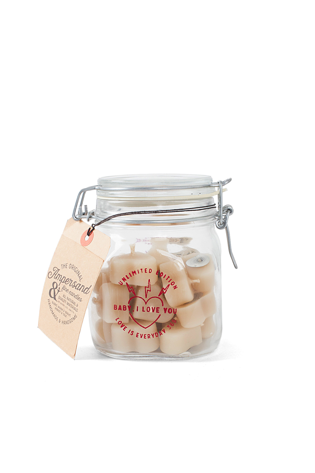 Ampersand Fine Candles : Baby I Love You Jar (24piece)