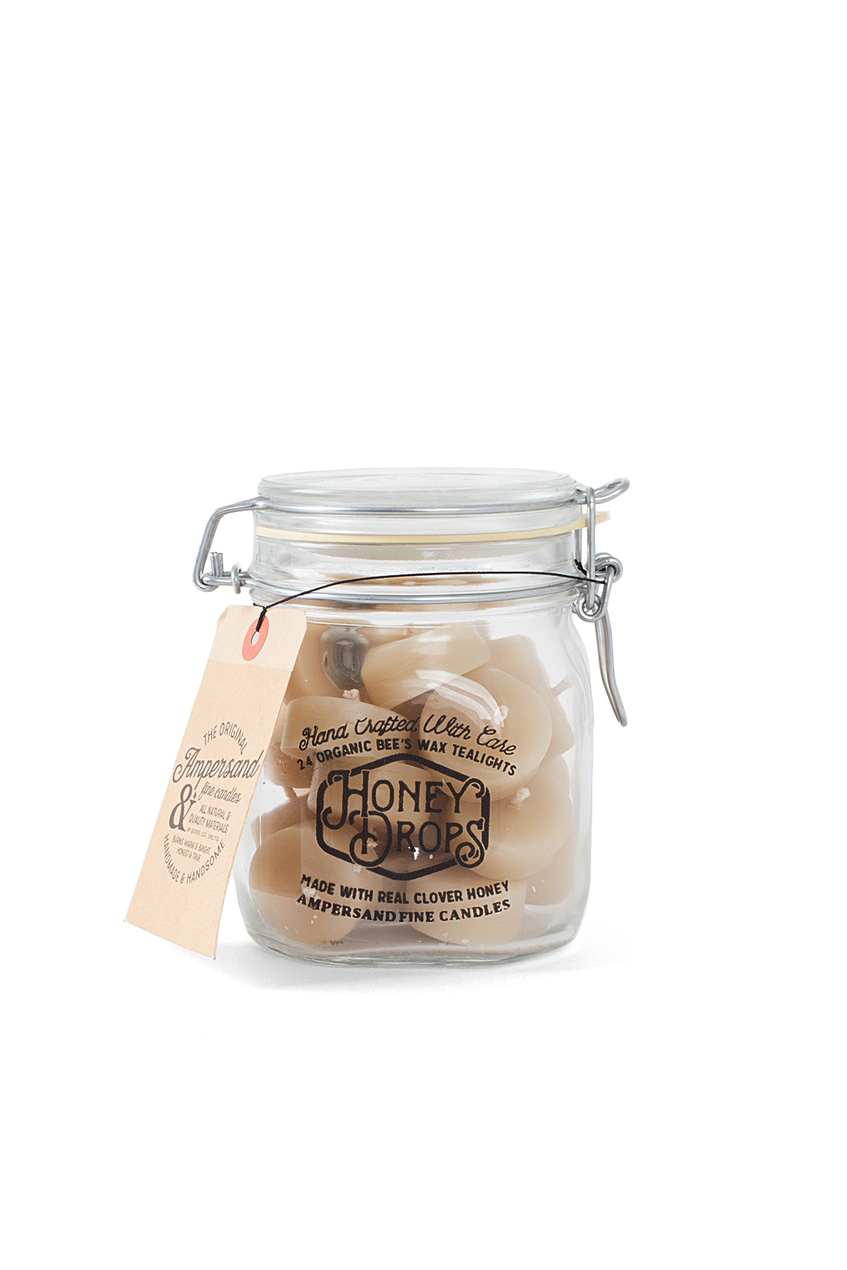 Ampersand Fine Candles : Honey Drops Jar (24piece)