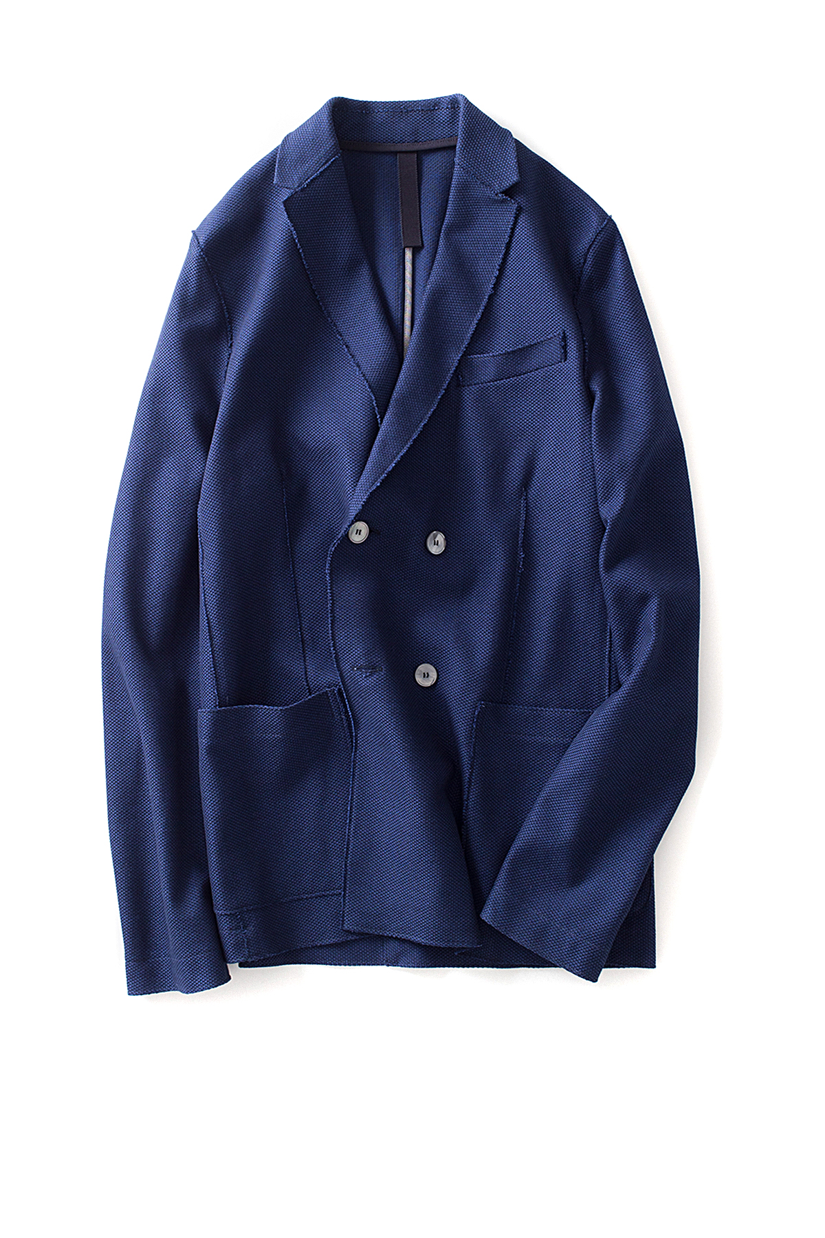 Harris Wharf London : D.breasted Jacket Nailhead (Dark Blue)