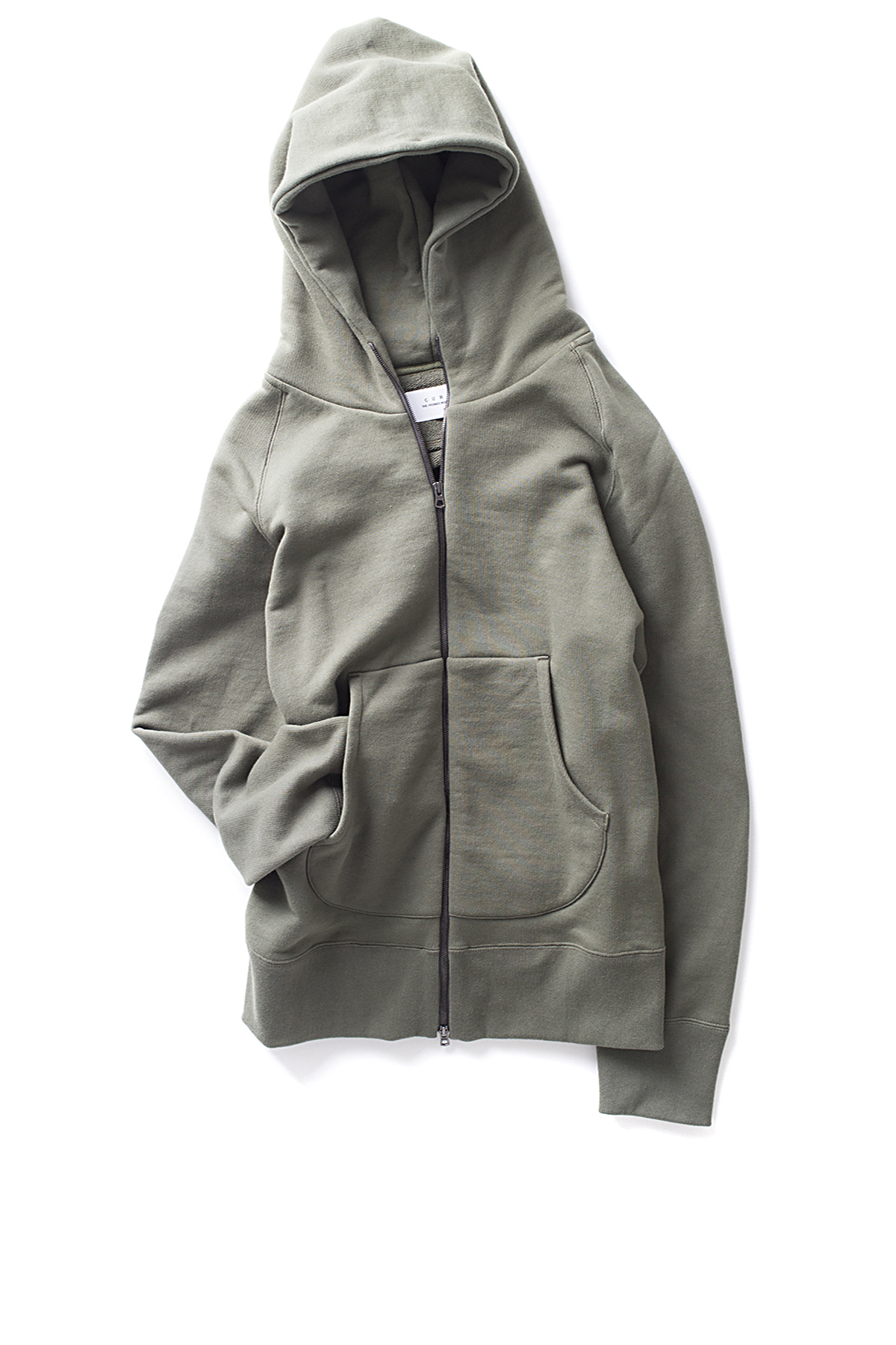 Curly : Bright Zip Parka (Olive)