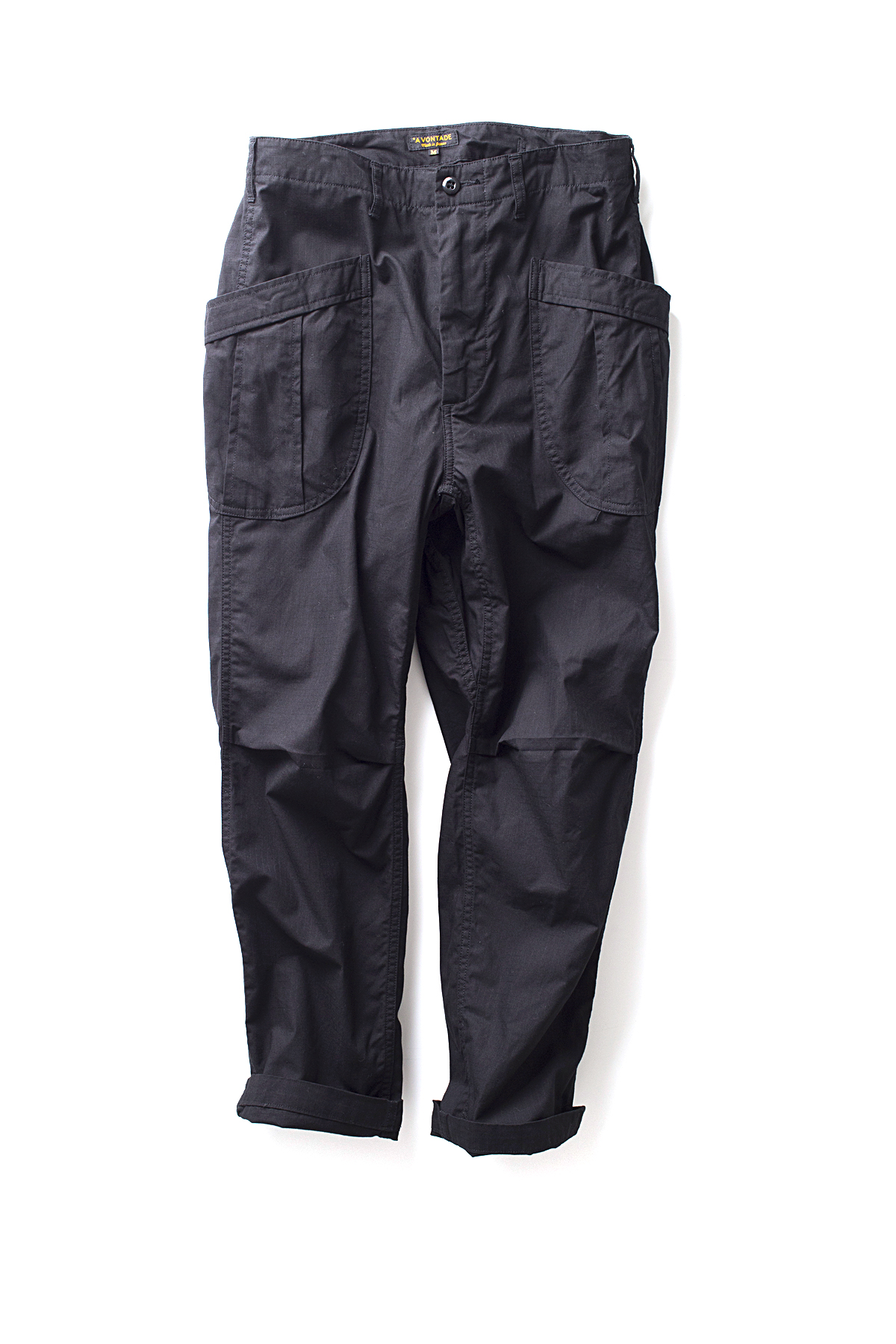 A vontade : Fatigue Trousers Ripstop (Black)