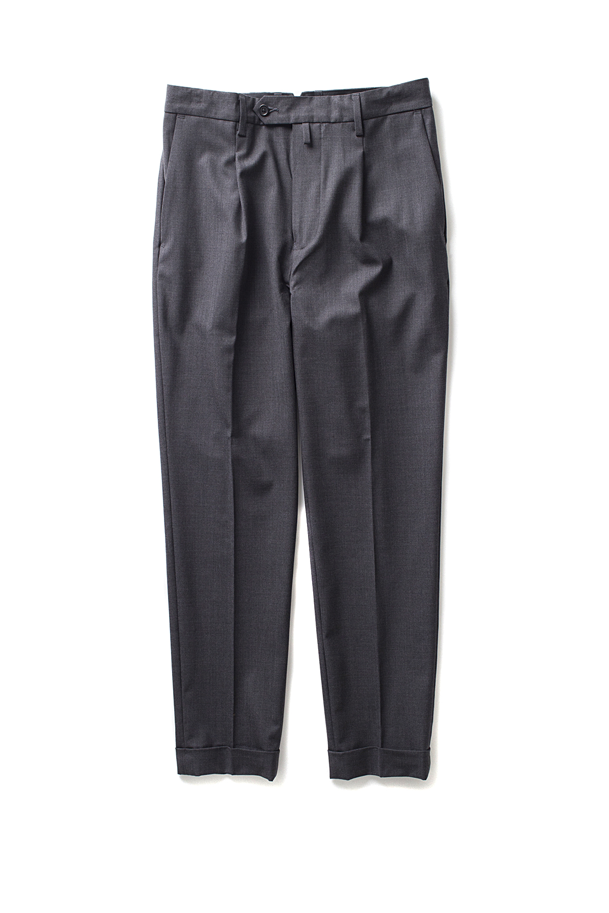 A vontade : 1 Tuck Tropical Trousers (Charcoal)