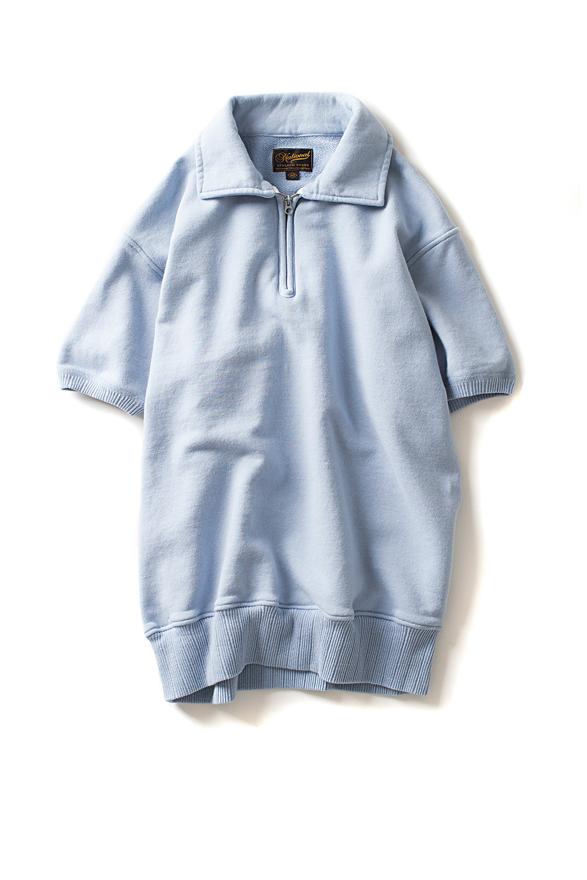 NAG : 1/4 Zip Campus S/S (Washed Blue)