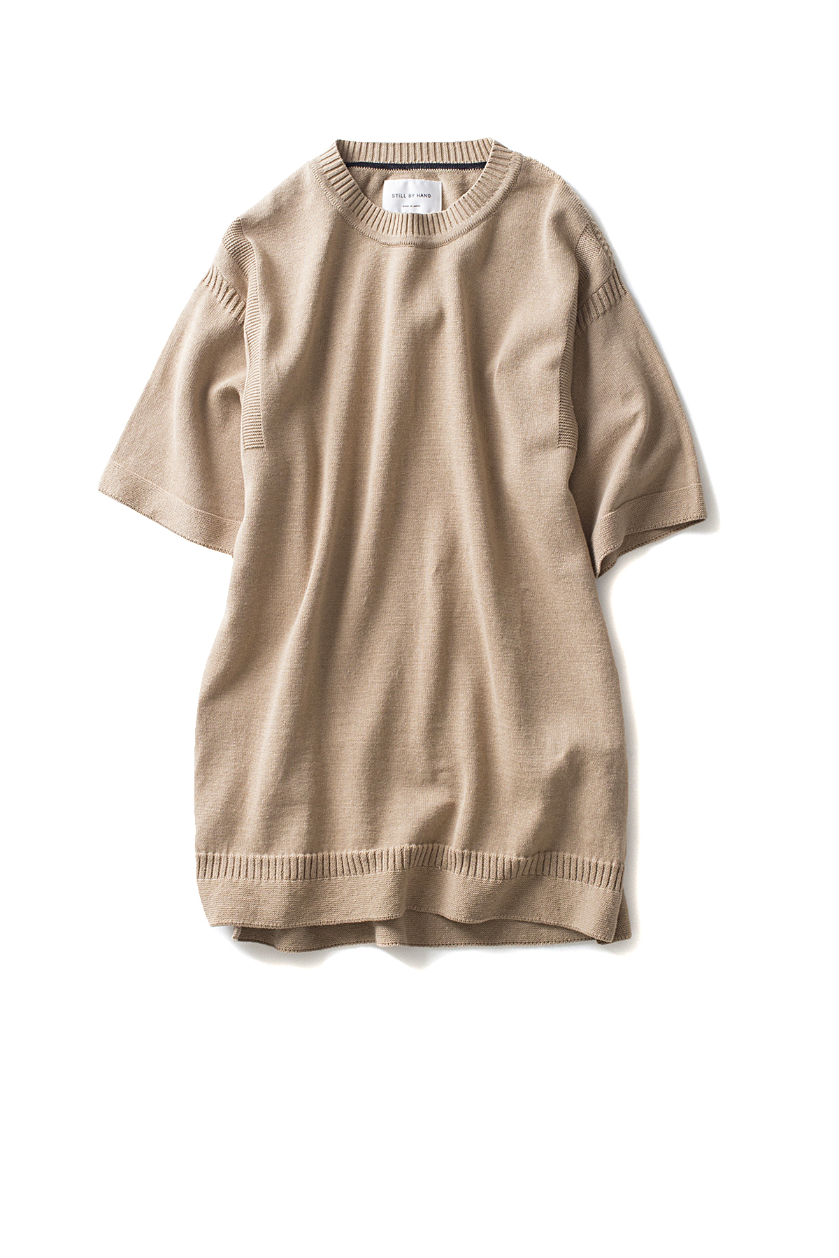 Still By Hand : Half Sleeve Knit (Beige)