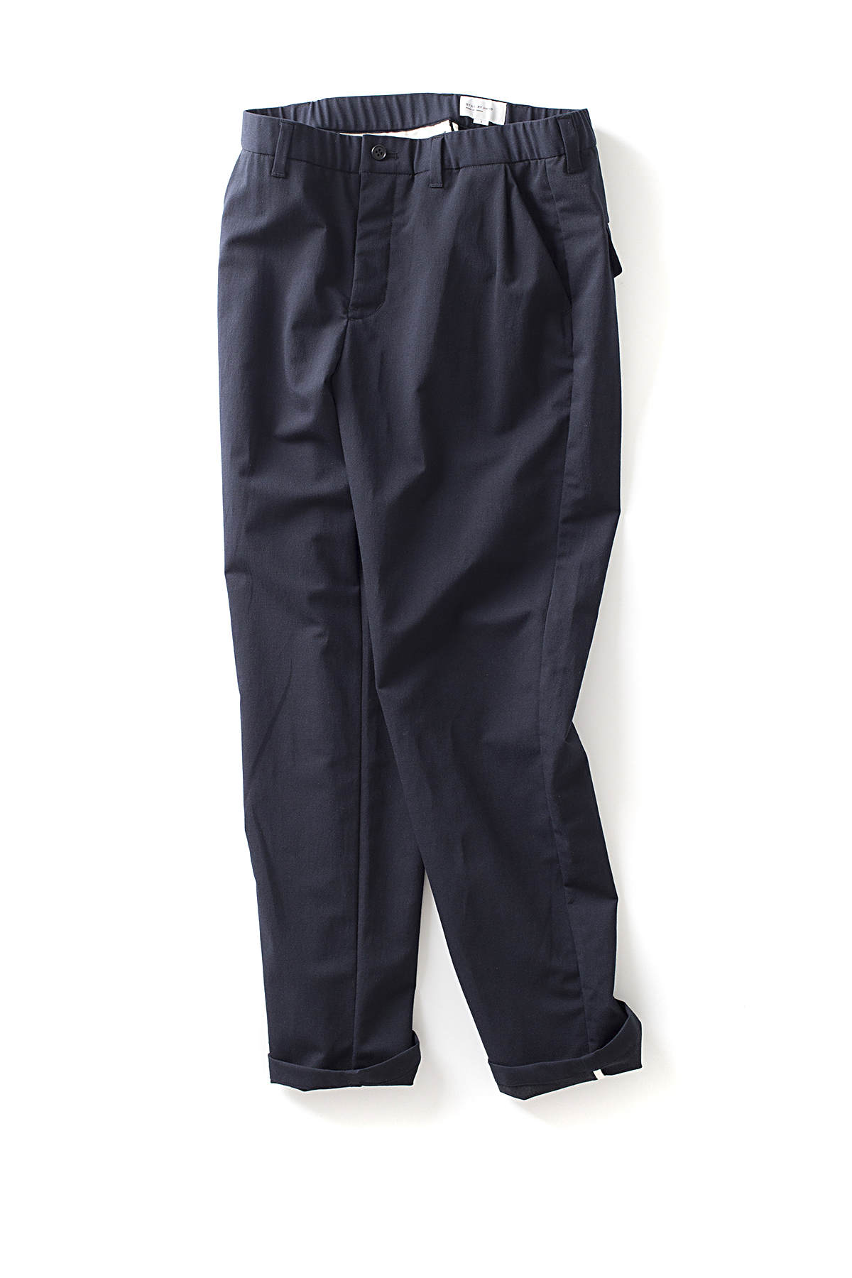 Still By Hand : Urethane Inner Coating Pants (Navy)