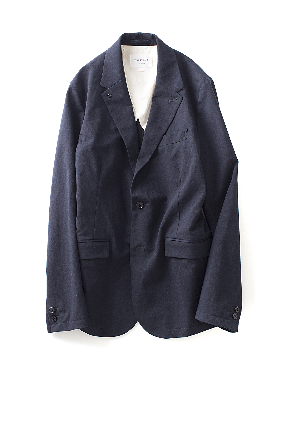 Still By Hand : Urethane Inner Coating Jacket (Navy)