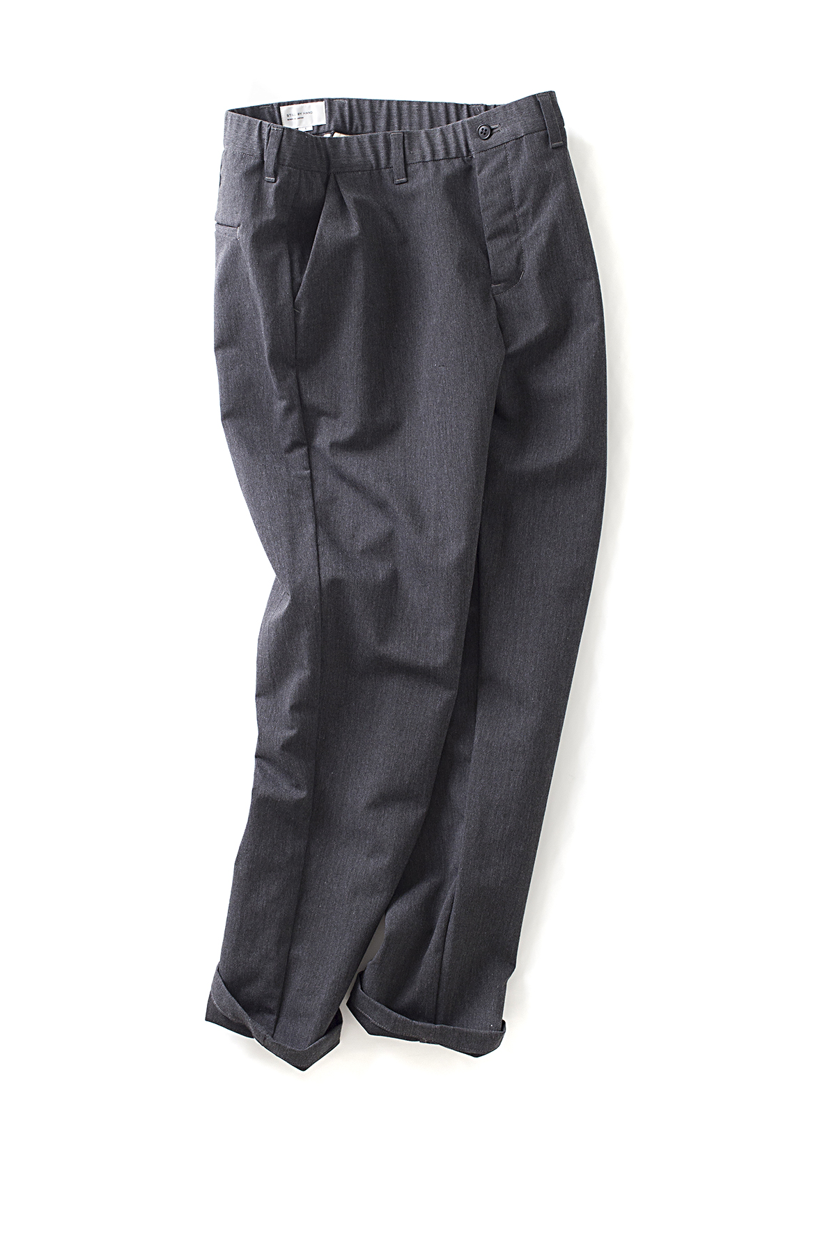 Still By Hand : Urethane Inner Coating Pants (Grey)