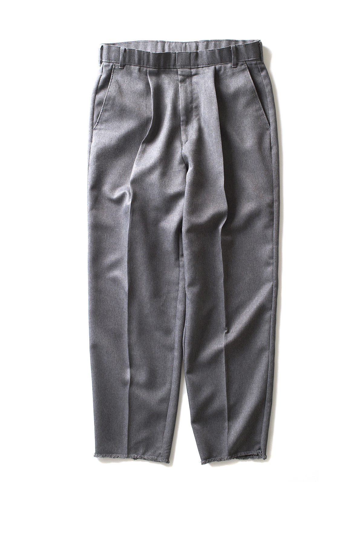HEXICO : Deformer Ex. Action Slacks 1-Tuck Trousers (Grey)