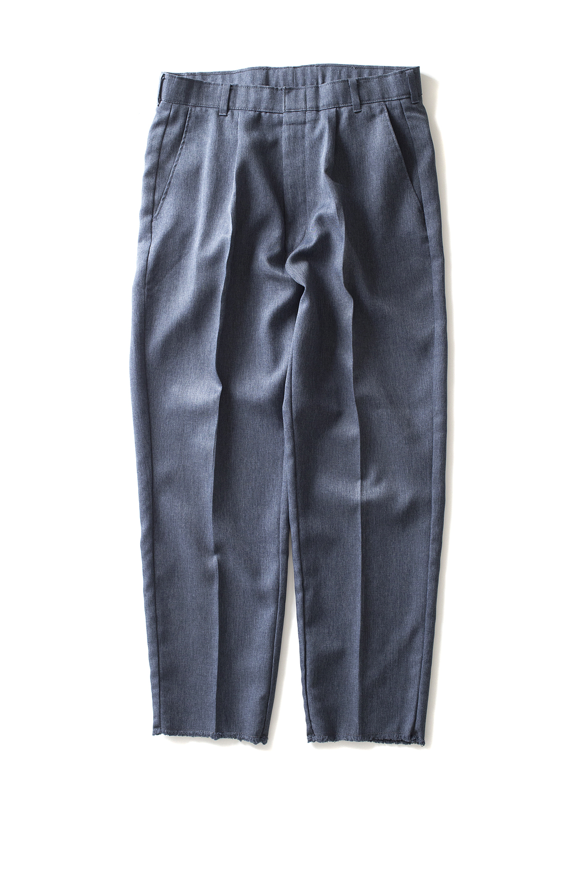 HEXICO : Deformer Ex. Action Slacks 1-Tuck Trousers (Blue)