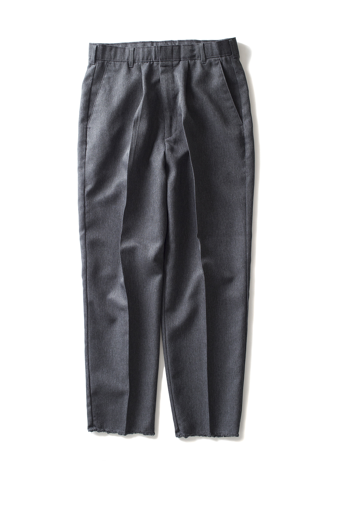 HEXICO : Deformer Ex. Action Slacks 1-Tuck Trousers (D.Grey)