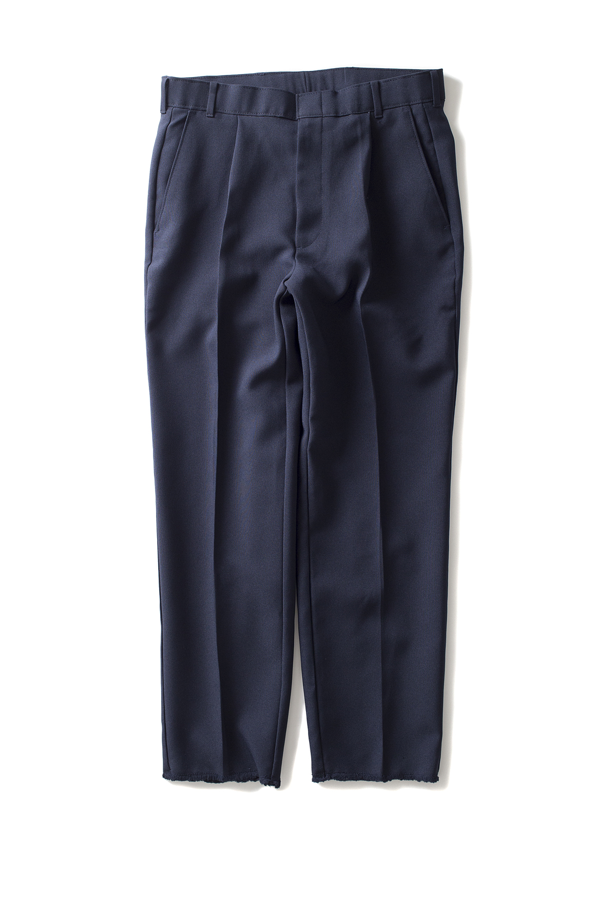 HEXICO : Deformer Ex. Action Slacks 1-Tuck Trousers (Navy)