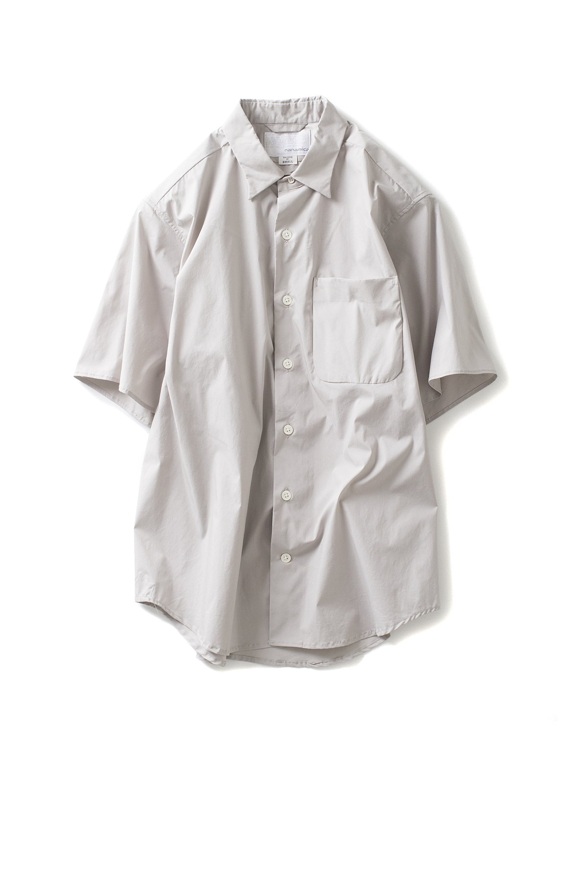 nanamica : Wind Half Sleeve Shirt (Light Beige)