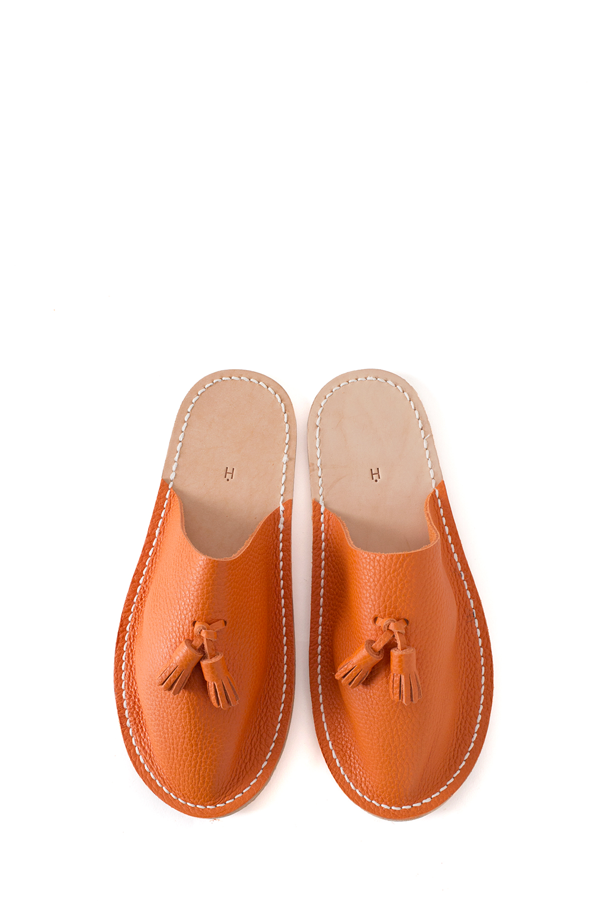 Hender Scheme : Leather Slipper (Orange)