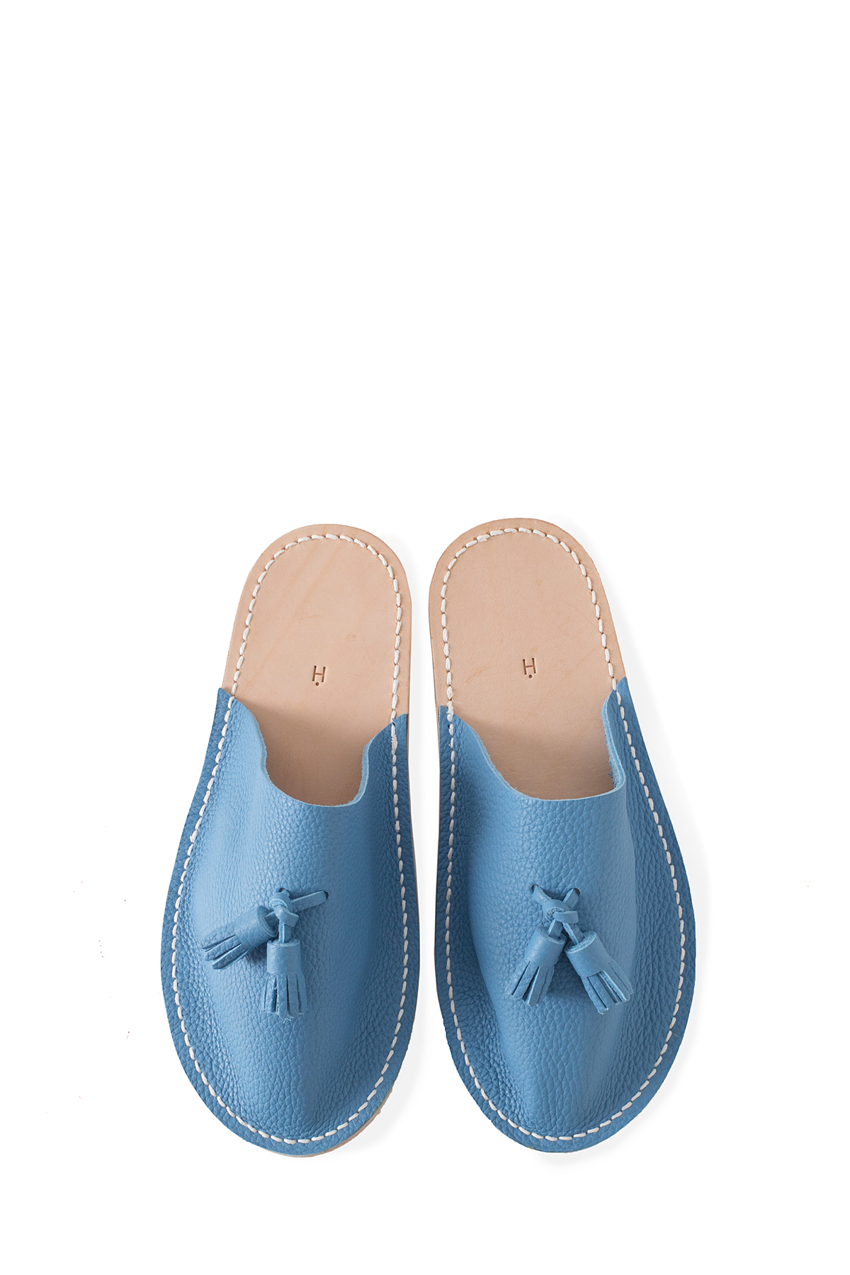 Hender Scheme : Leather Slipper (Blue)