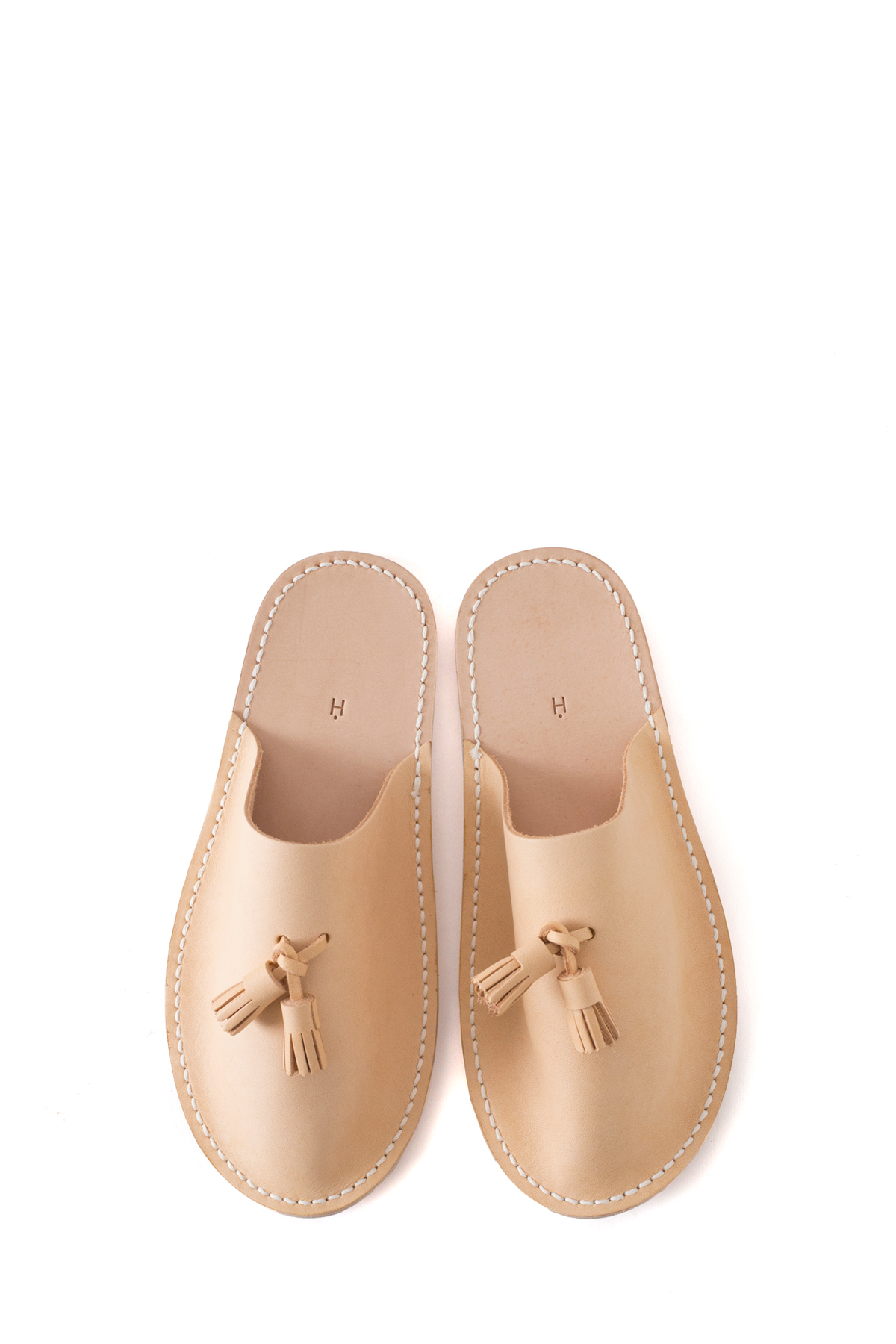 Hender Scheme : Leather Slipper (Natural)
