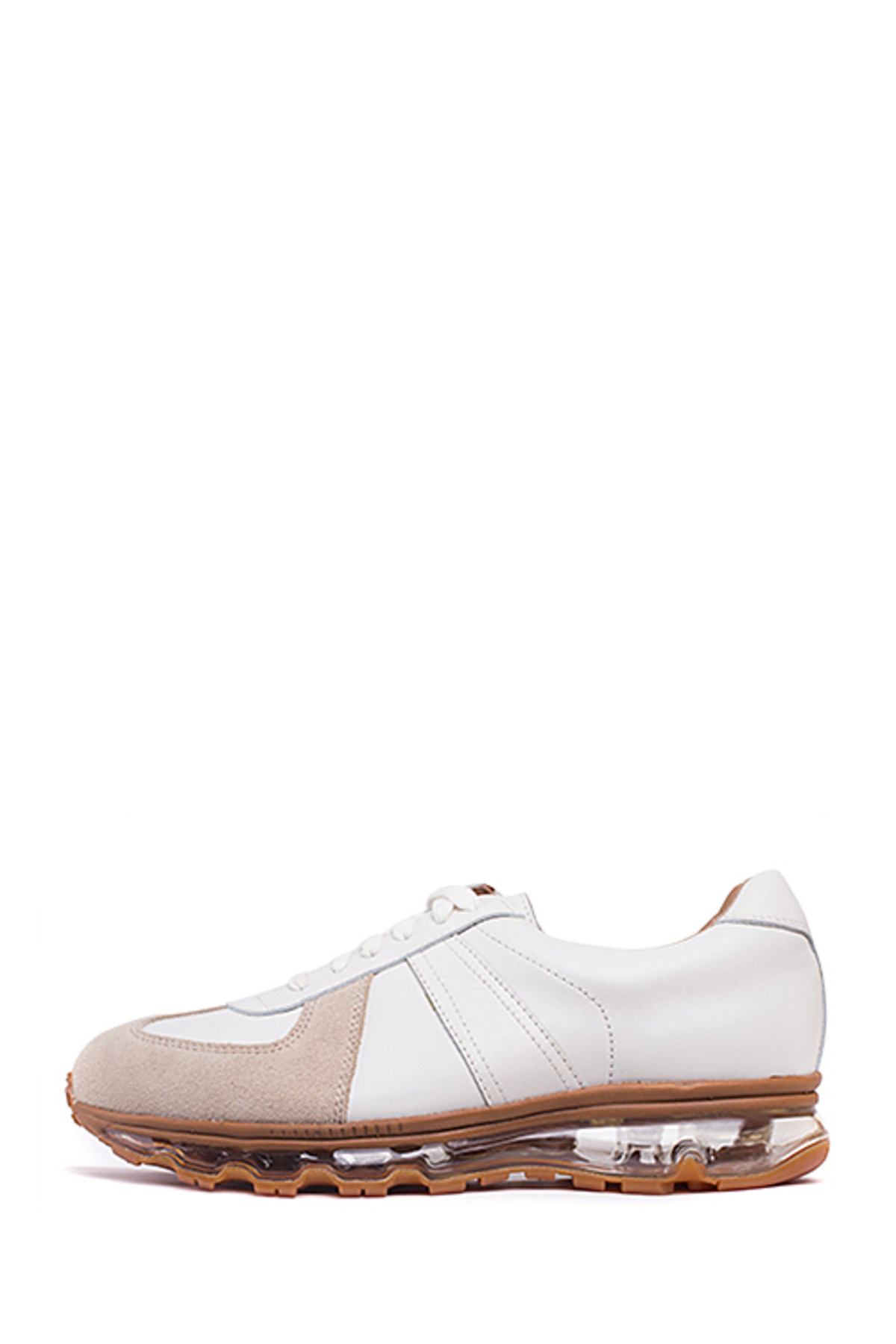 Tomo & Co. : German Trainer (White Leather / Gum Sole)