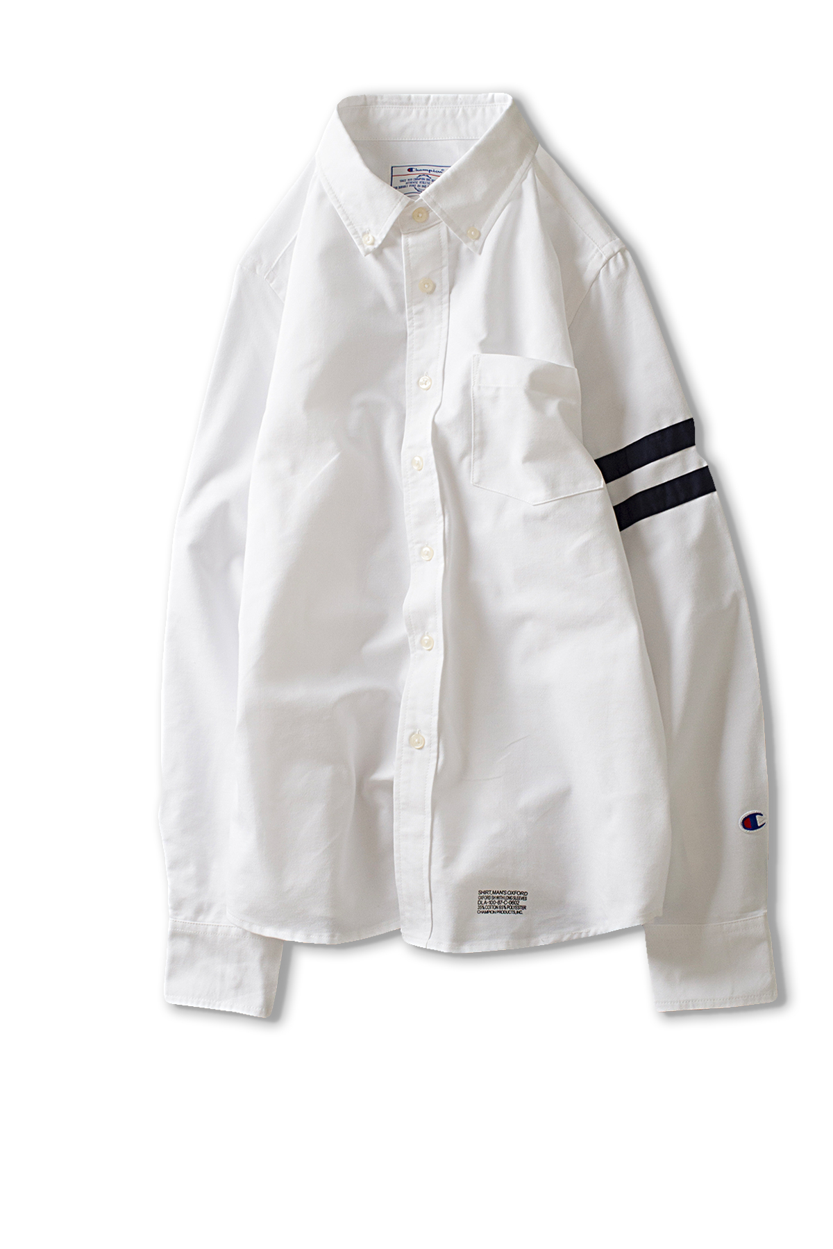 Champion : Campus Long Sleeve Button Down Shirt (White)