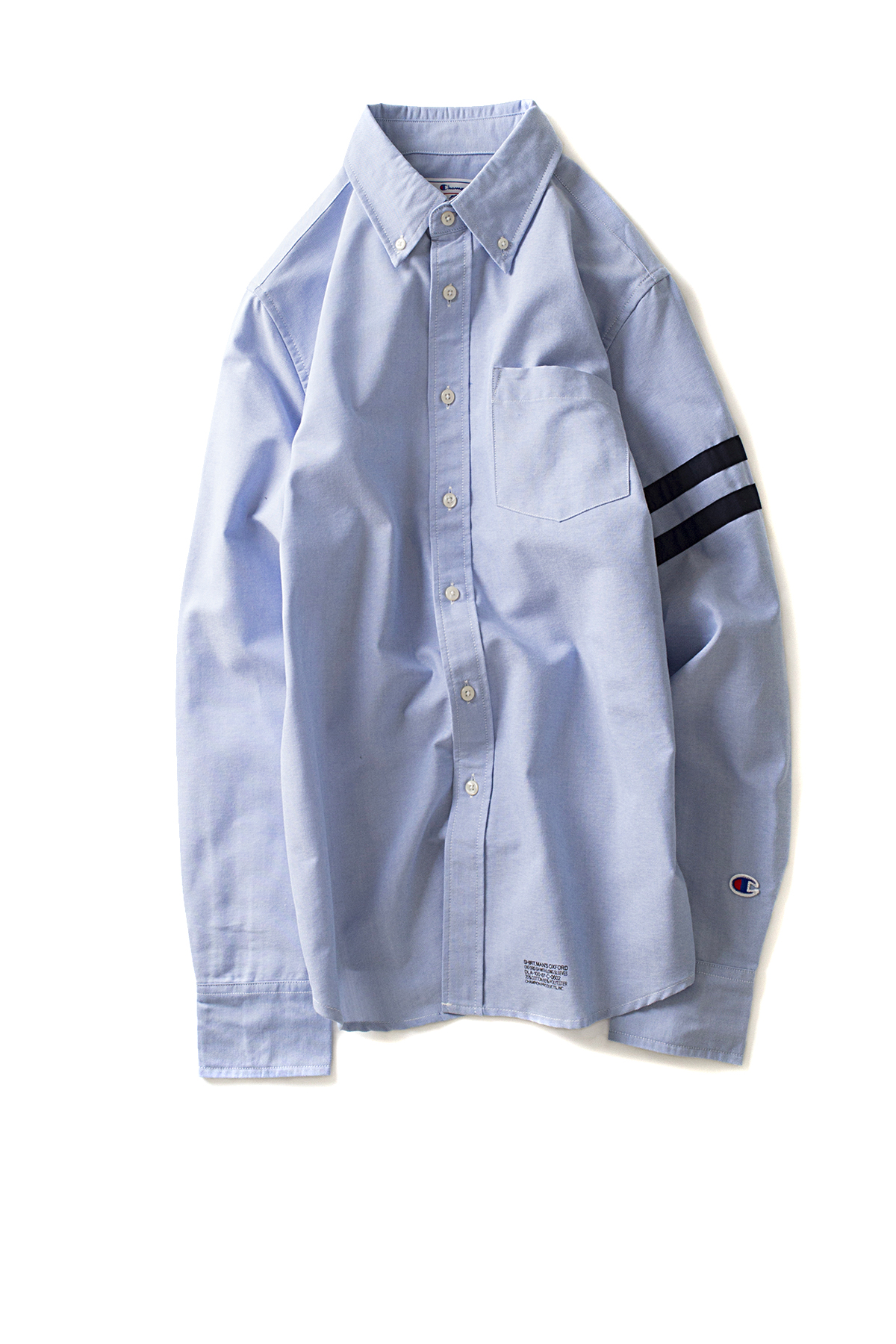 Champion : Campus Long Sleeve Button Down Shirt (Blue)