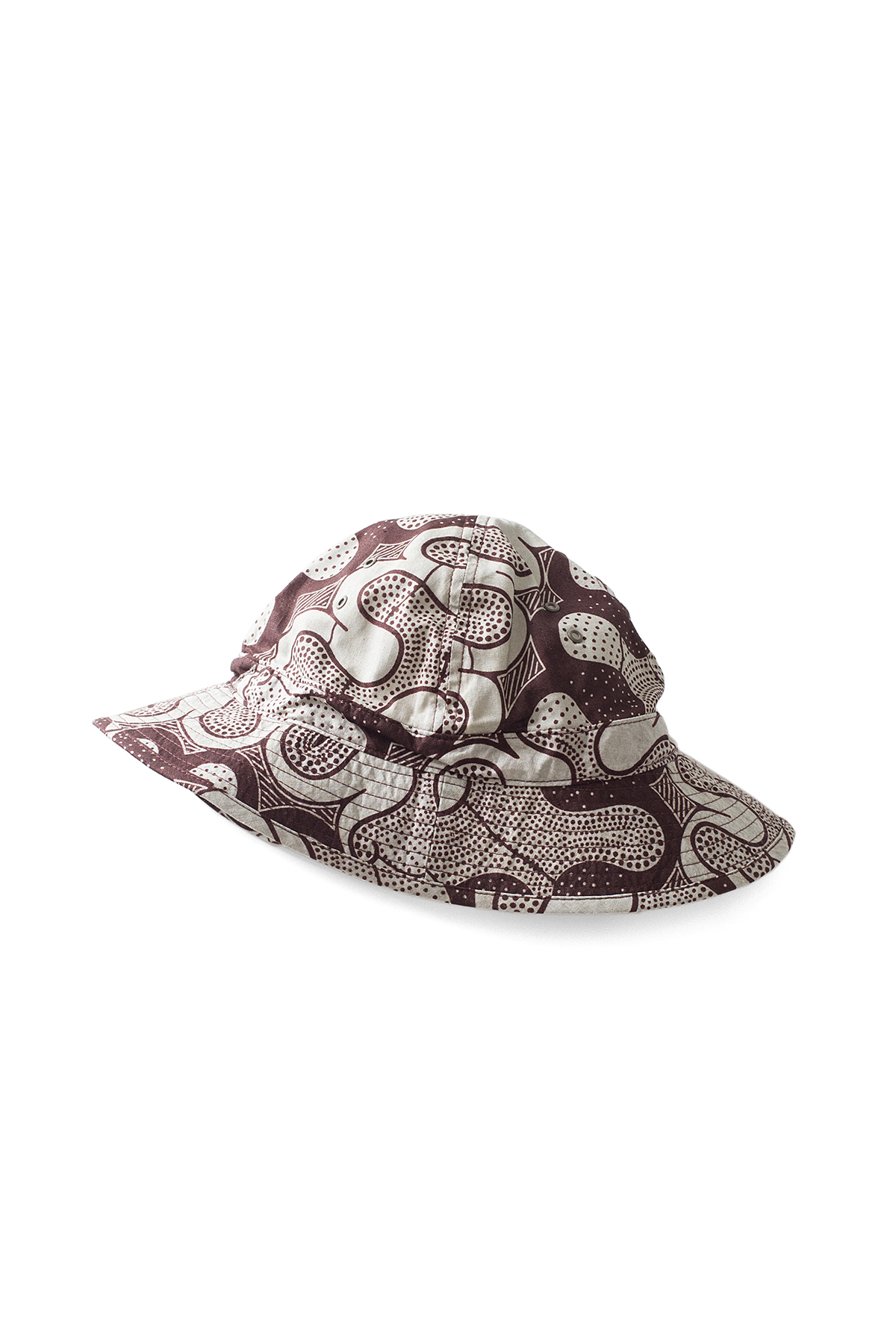 Infielder Design : Batik Military Hat (Brown)