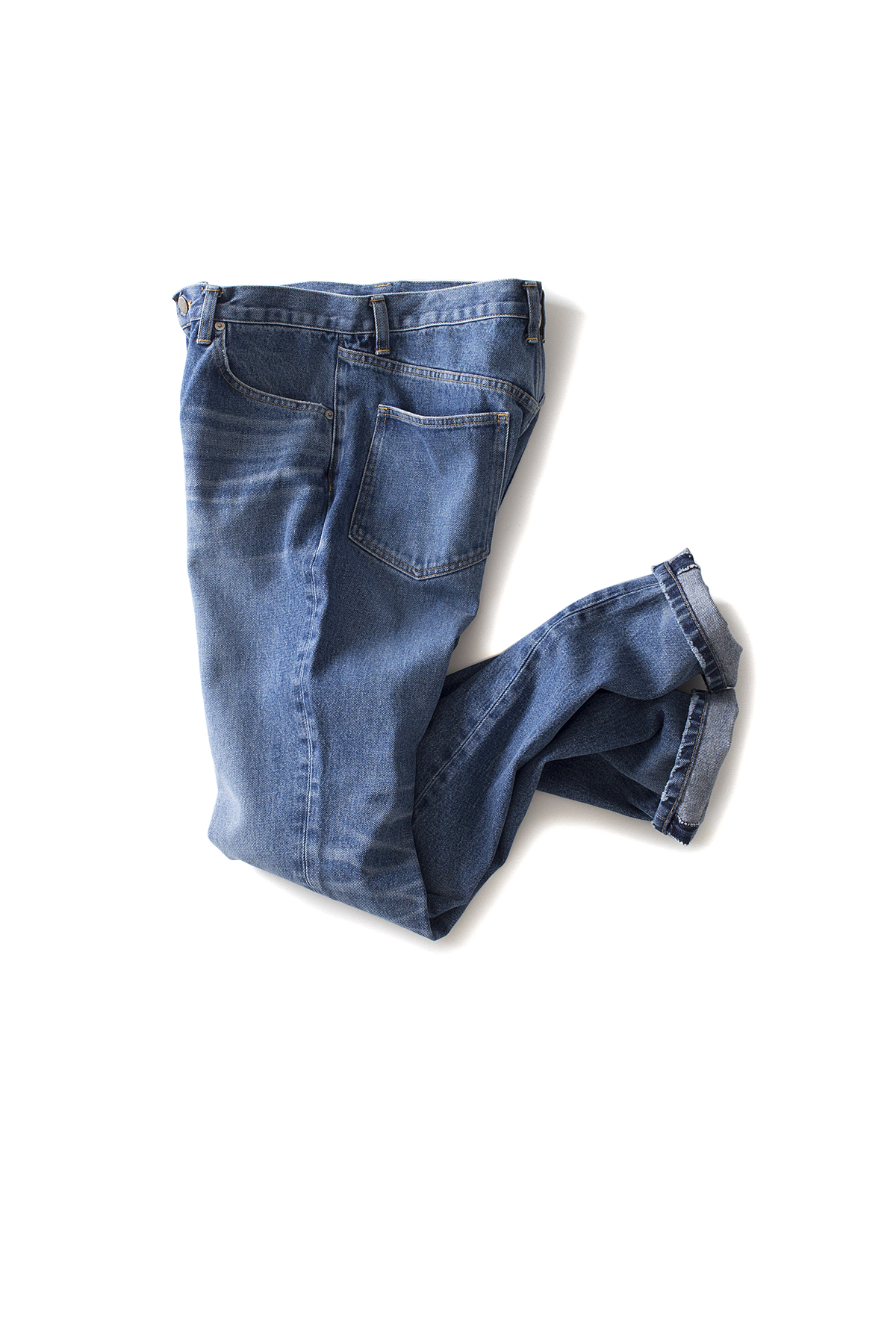 JOHN LAWRENCE SULLIVAN : Washed Straight Jeans (Indigo)
