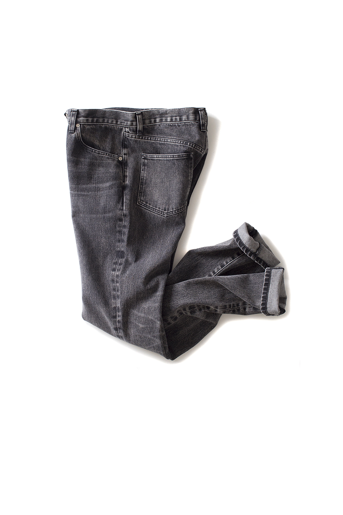 JOHN LAWRENCE SULLIVAN : Washed Straight Jeans (Black)