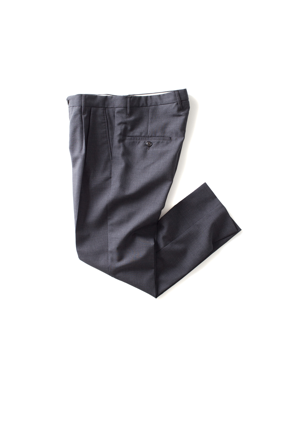 Name : Wool Mohair Tropical Tapered Trousers (Charcoal)