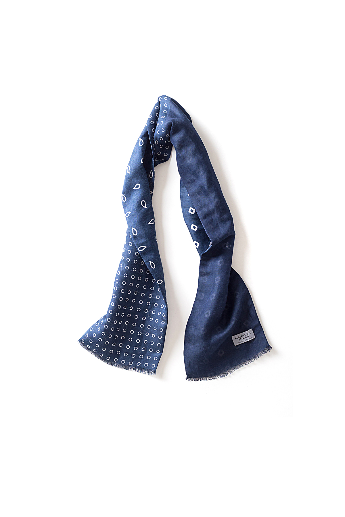 Kenneth Field : 4F 3 Dots & 1 Solid (Navy x White)