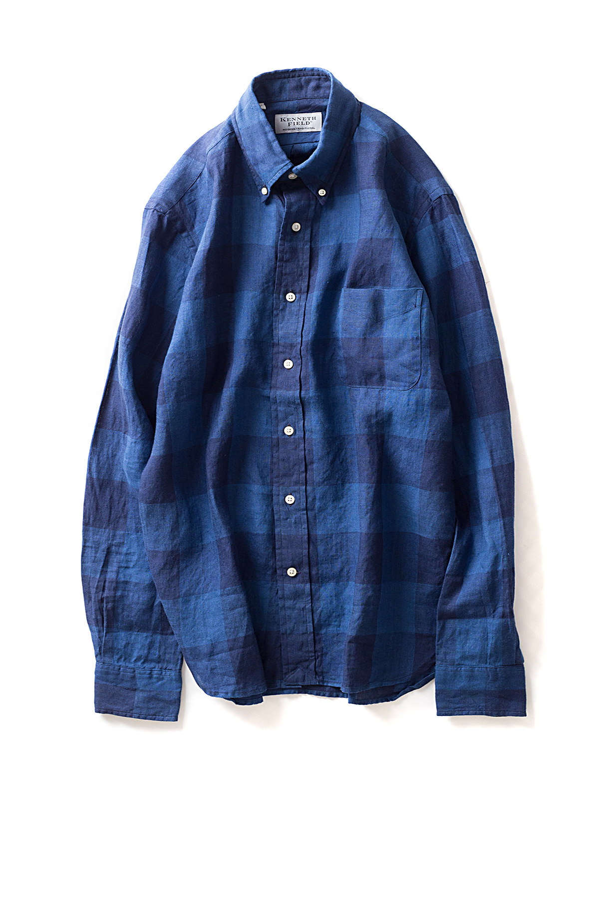Kenneth Field : Button Down Shirt (Indigo)