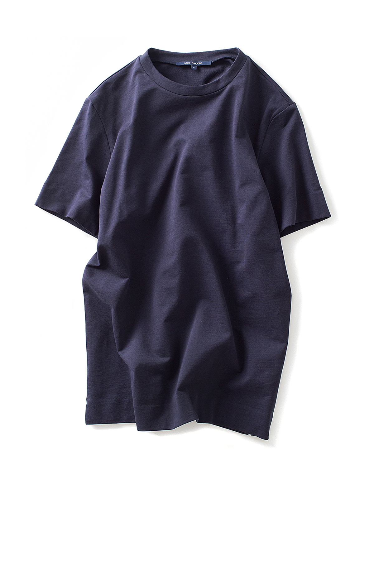 Sofie D'Hoore : Tune Fine Cotton Fleece T-Shirt (Marine)