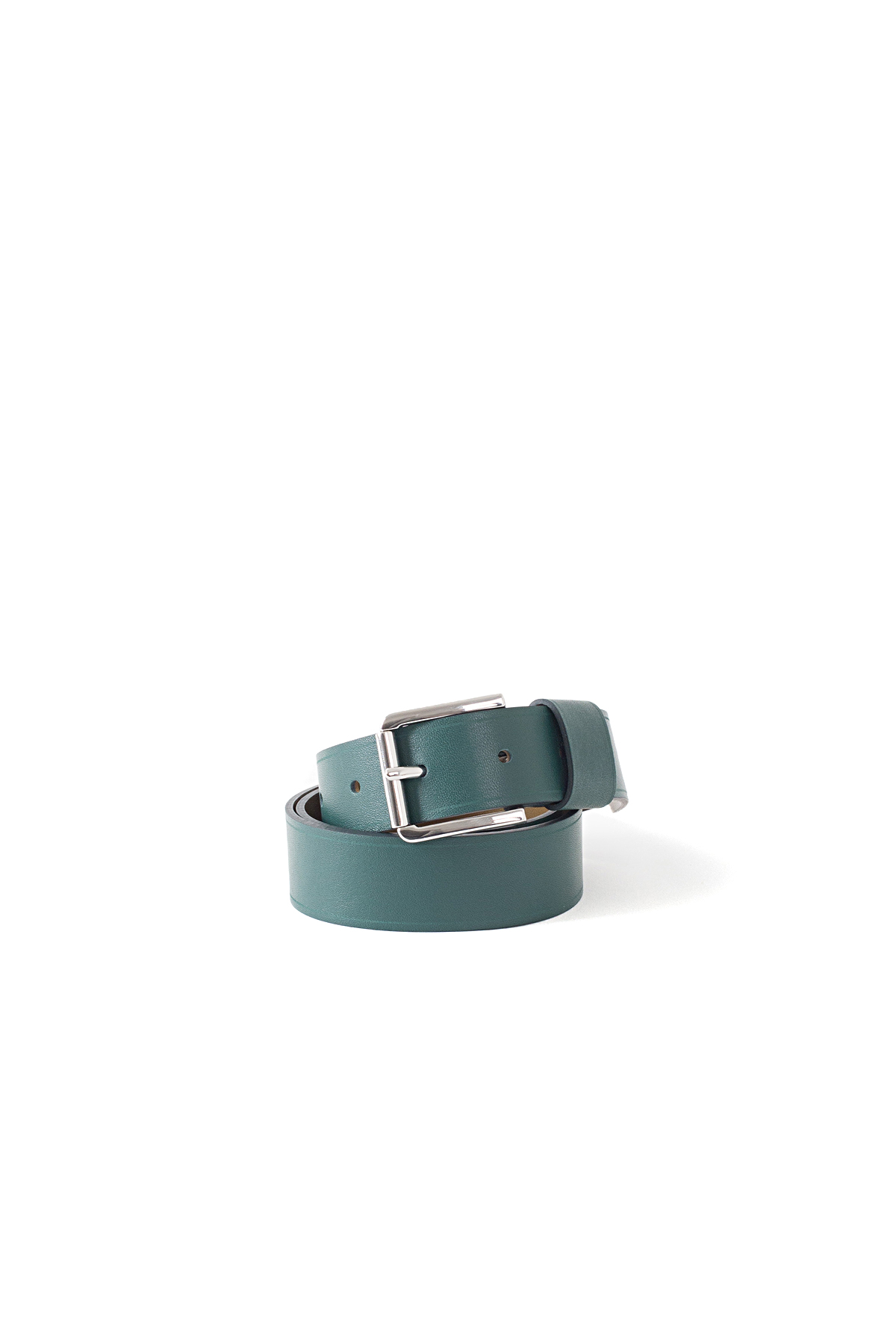 Sofie D'Hoore : Verdict 30 Bi Color Leather Belt (Bottle/Yeti)