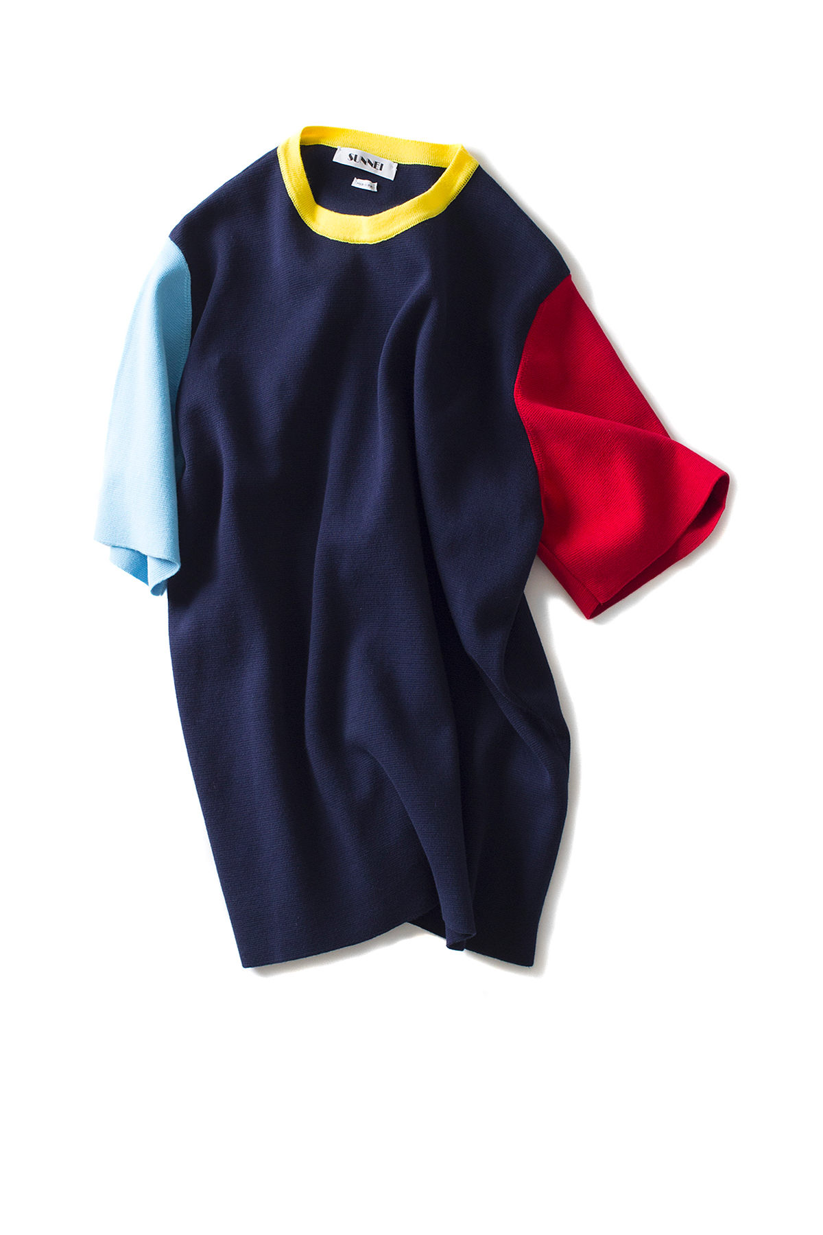 SUNNEI : Knit T-Shirts S/S (Navy / Azure / Red Wine / Yellow)