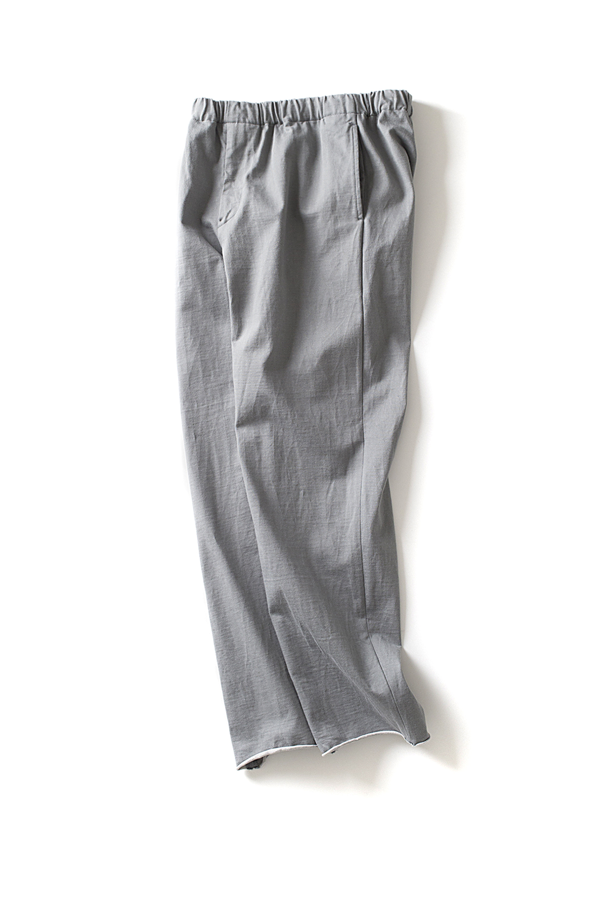 Auralee : Stand-Up Easy Pants (Blue Grey)