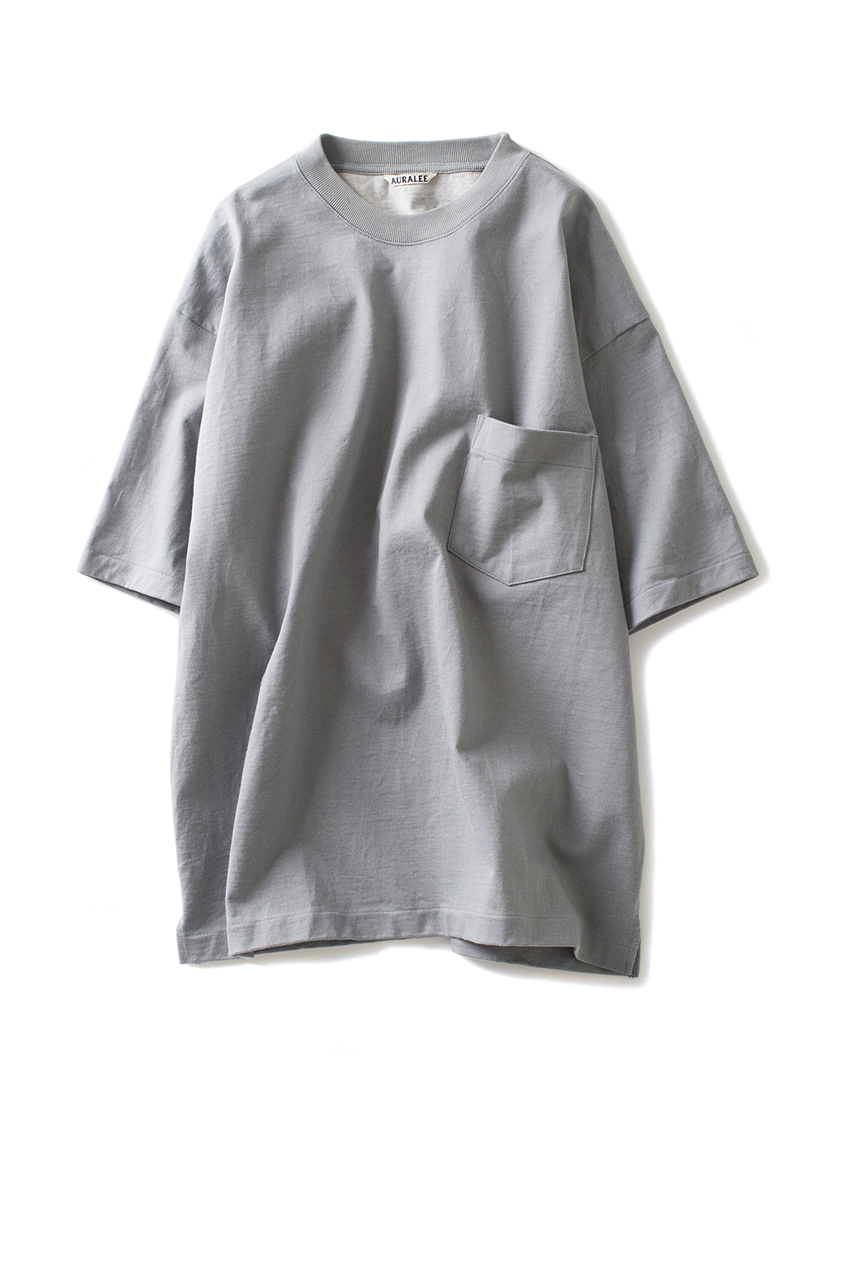Auralee : Stand-Up Tee (Blue Grey)