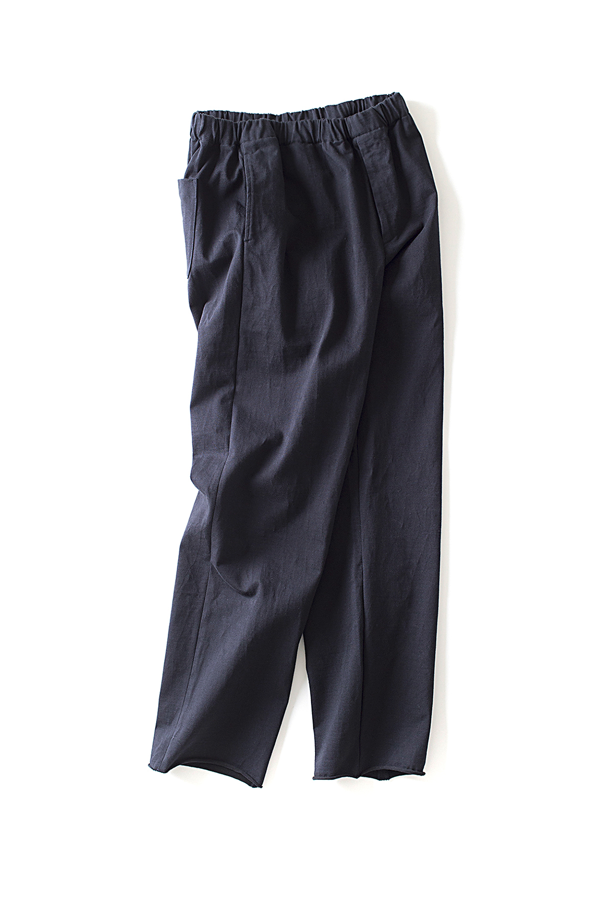 Auralee : Stand-Up Easy Pants (Navy Black)