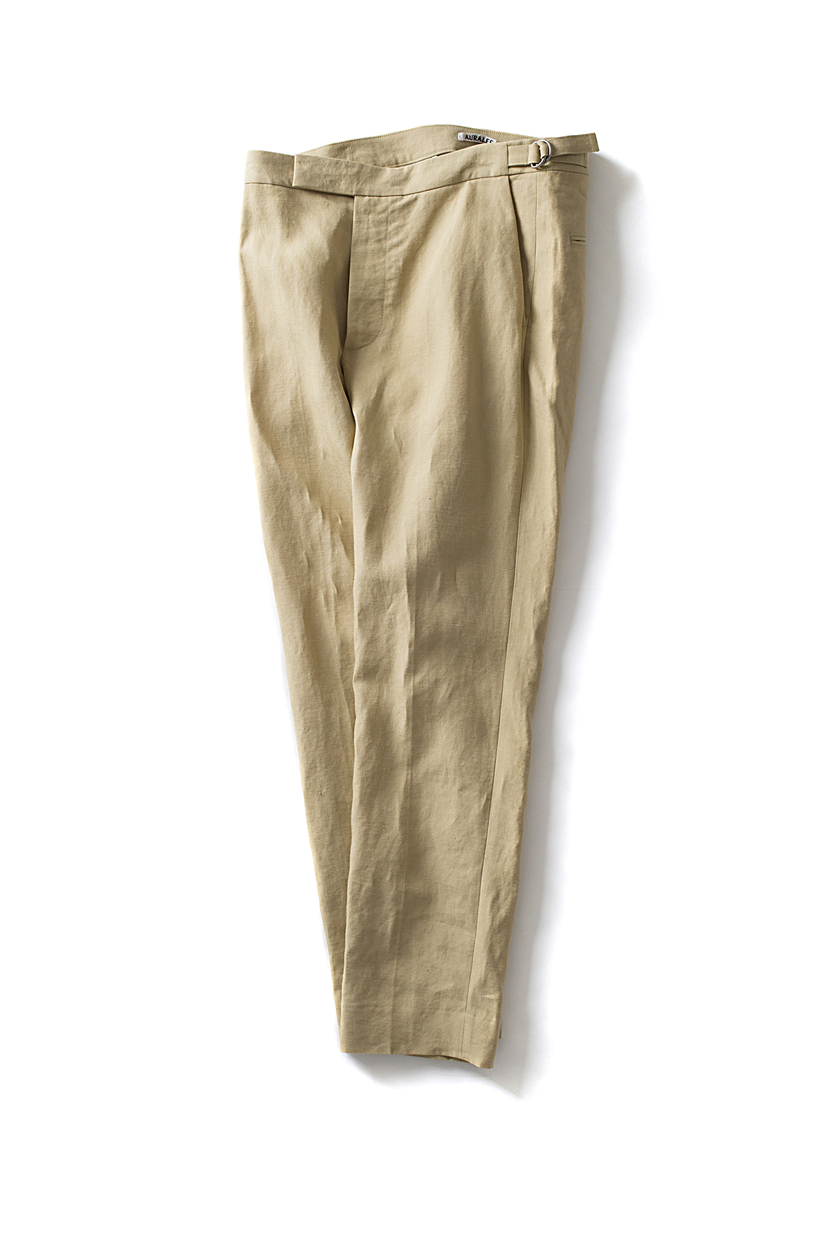 Auralee : Washed Linen Slacks (Yellow Beige)