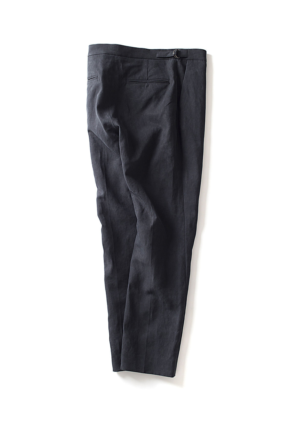Auralee : Washed Linen Slacks (Black)