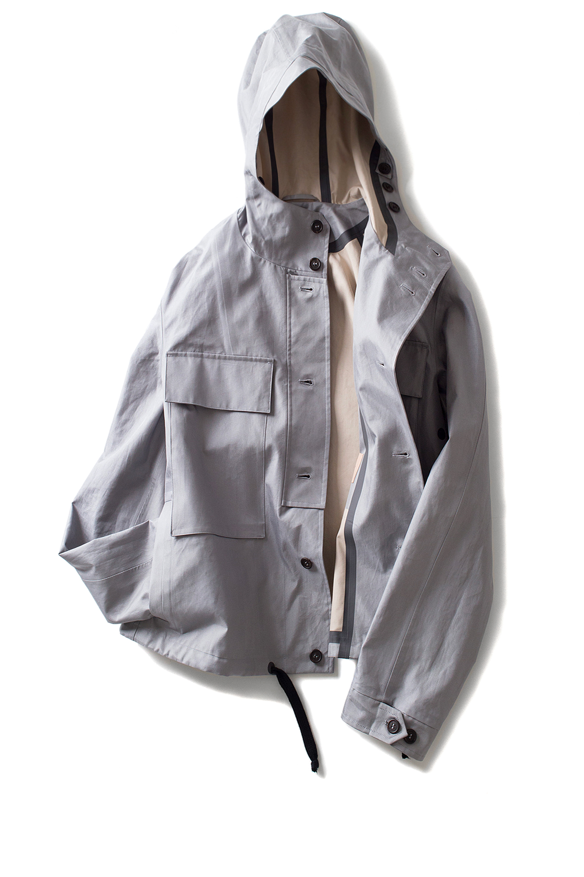 Federico Curradi : Jacket With Tapered Stitch (Ash Grey)