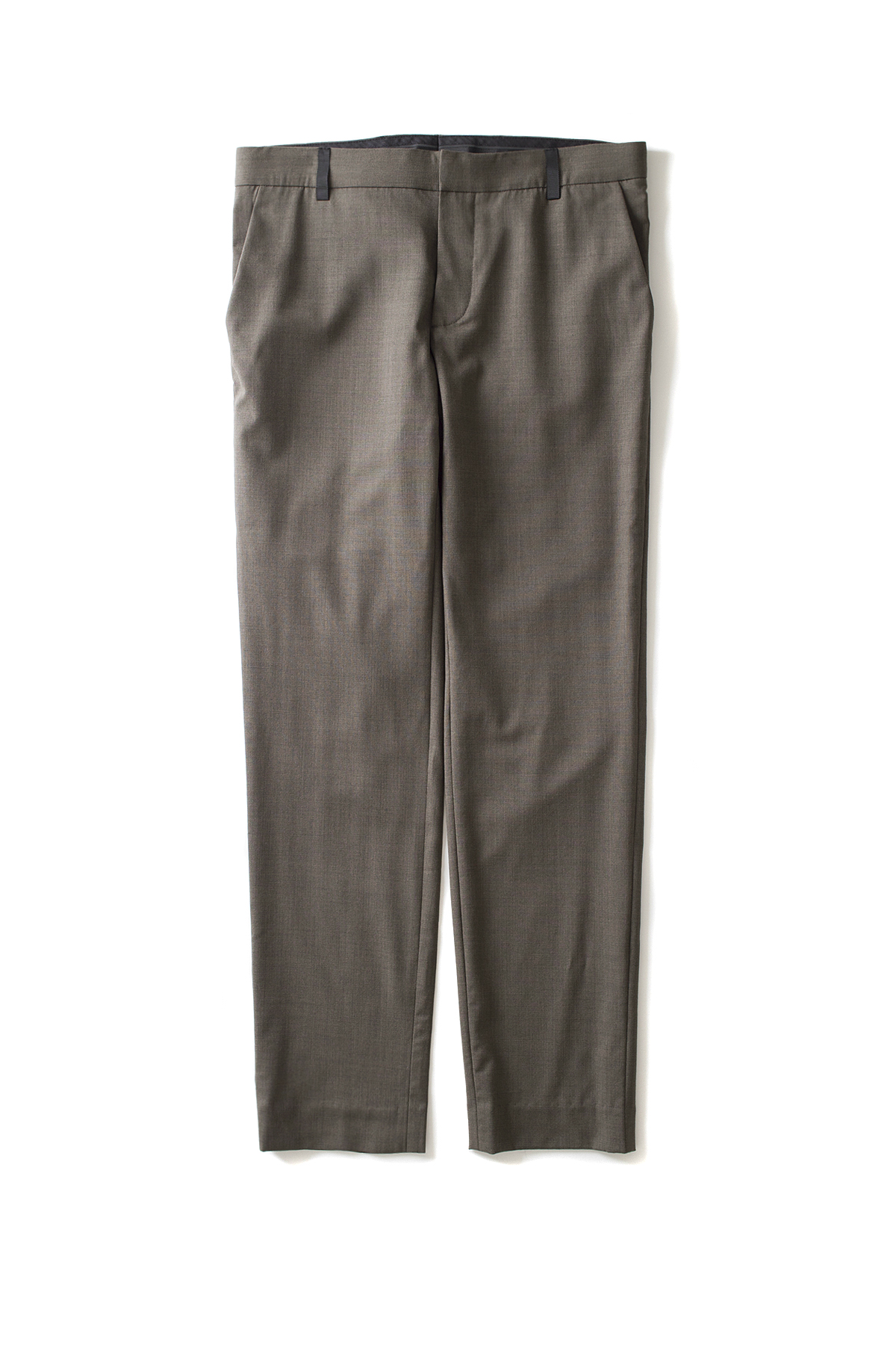 Peir Wu : Slim Tailored Trousers (Melange Green)