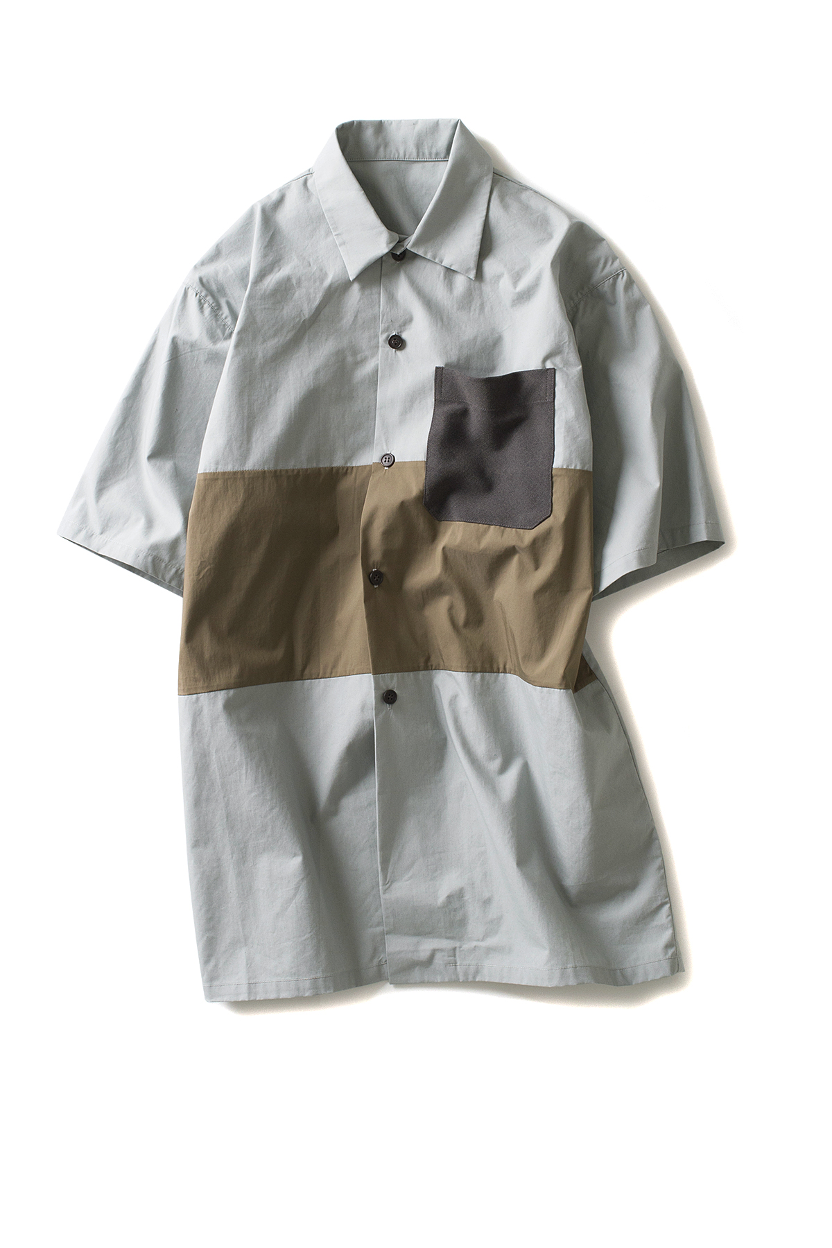 Peir Wu : Tourist Shirt (Mint / Khaki / Grey)