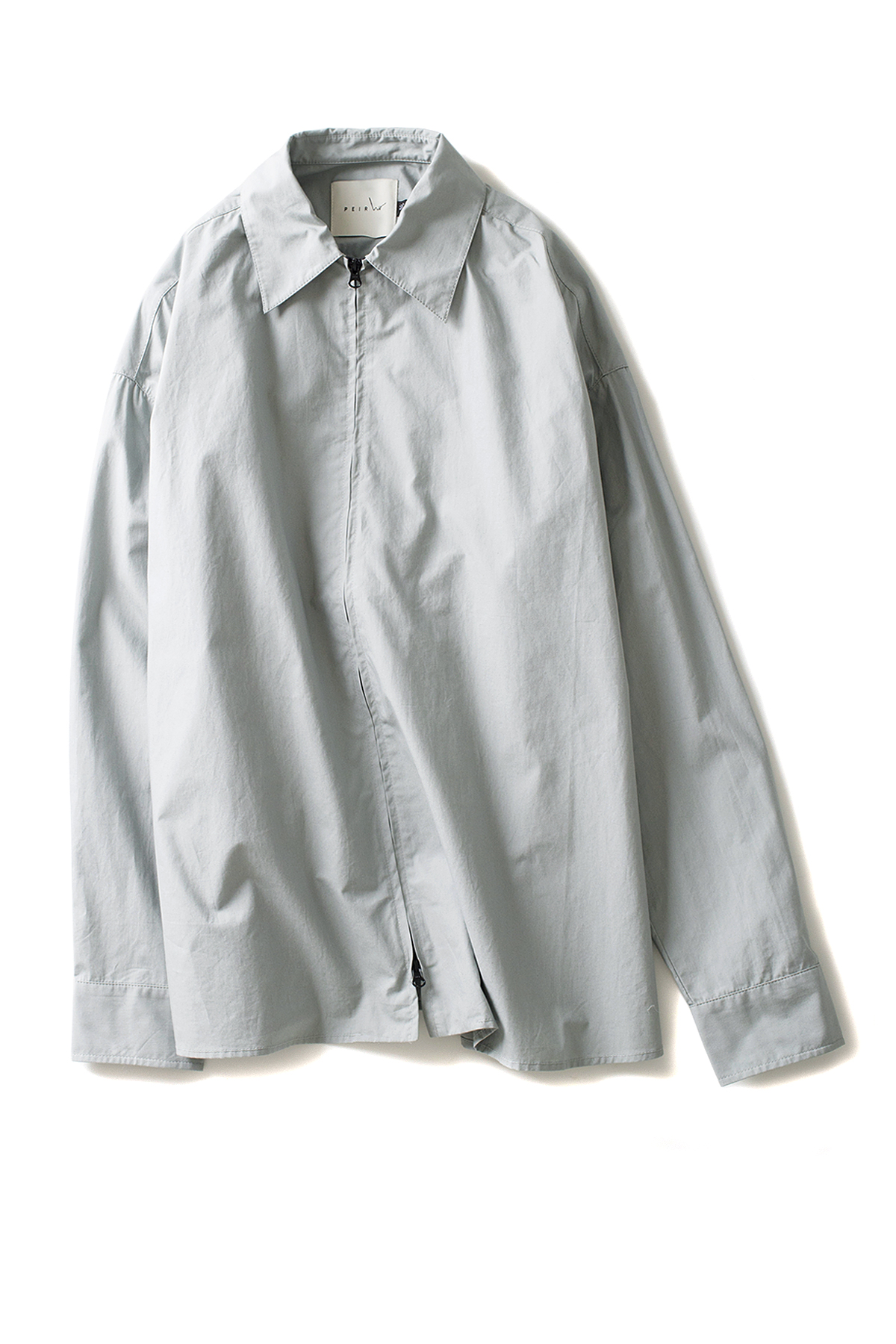 Peir Wu : Zip Front Shirt (Mint)