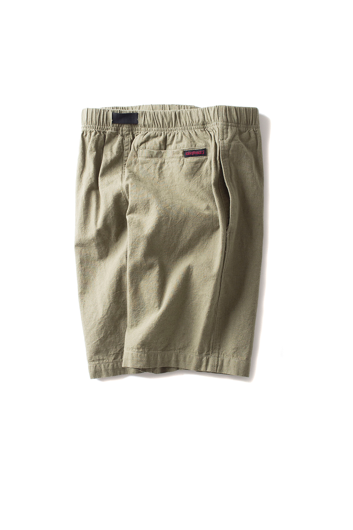 Gramicci : Cotton-Linen Zipper Shorts (Olive)