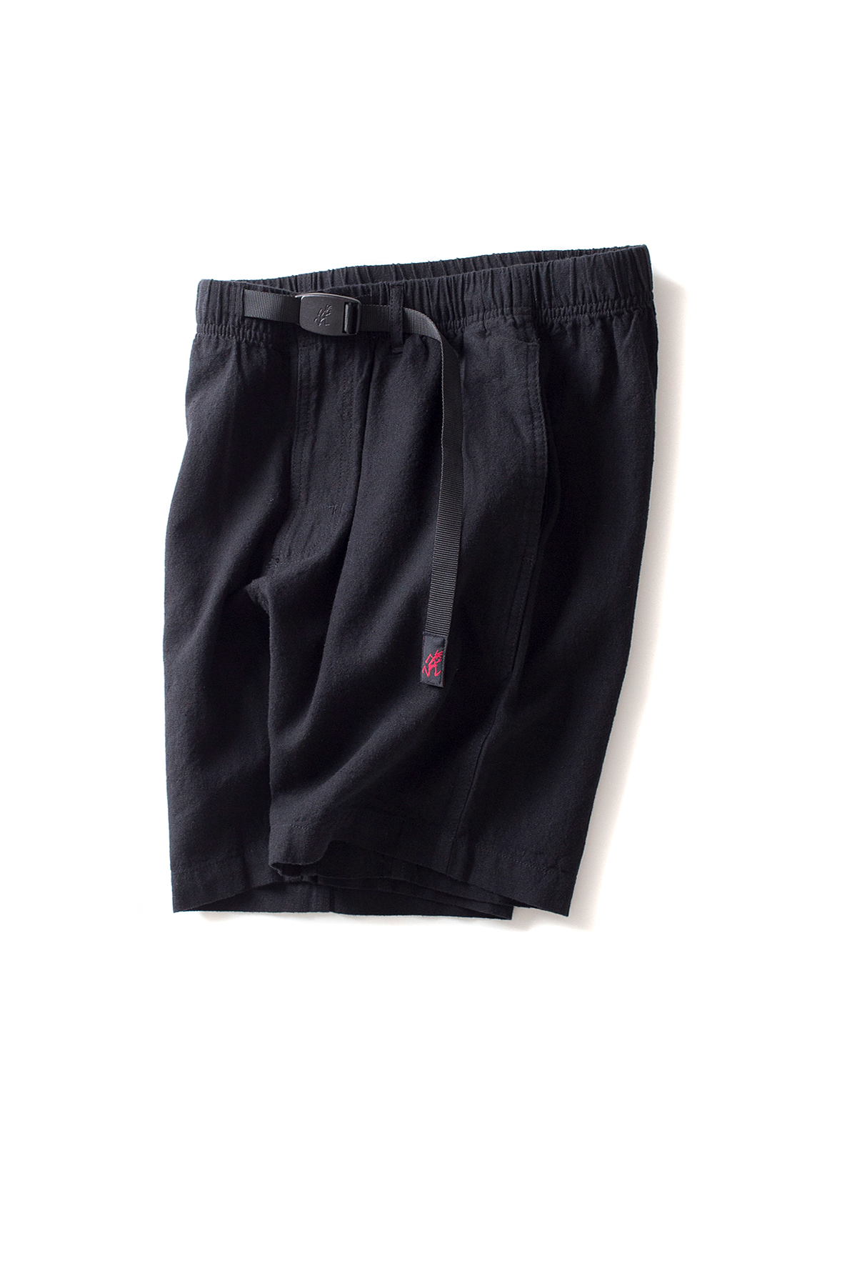 Gramicci : Cotton-Linen Zipper Shorts (Black)