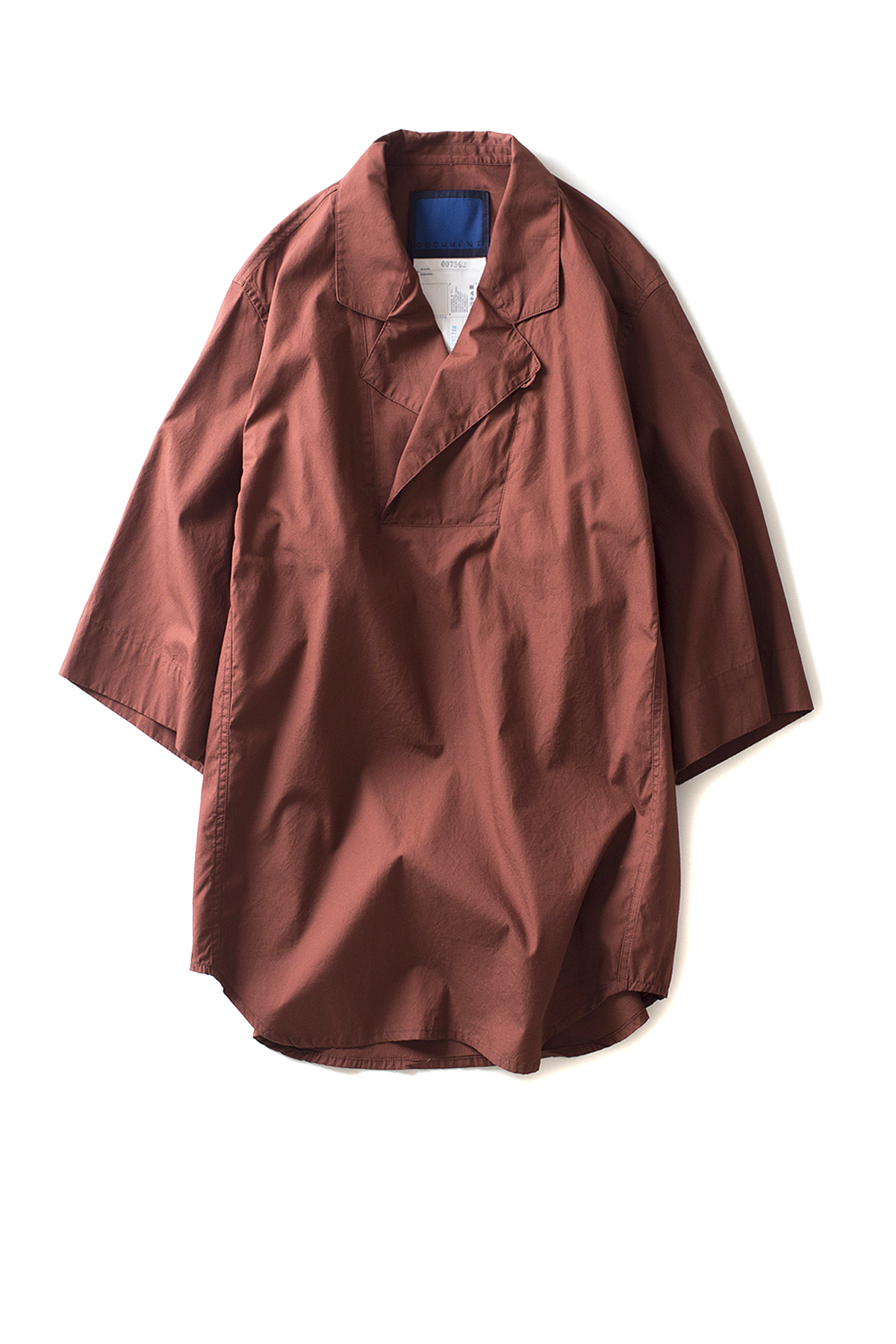 Document : Fine Cotton Safari Shirt (Brown)