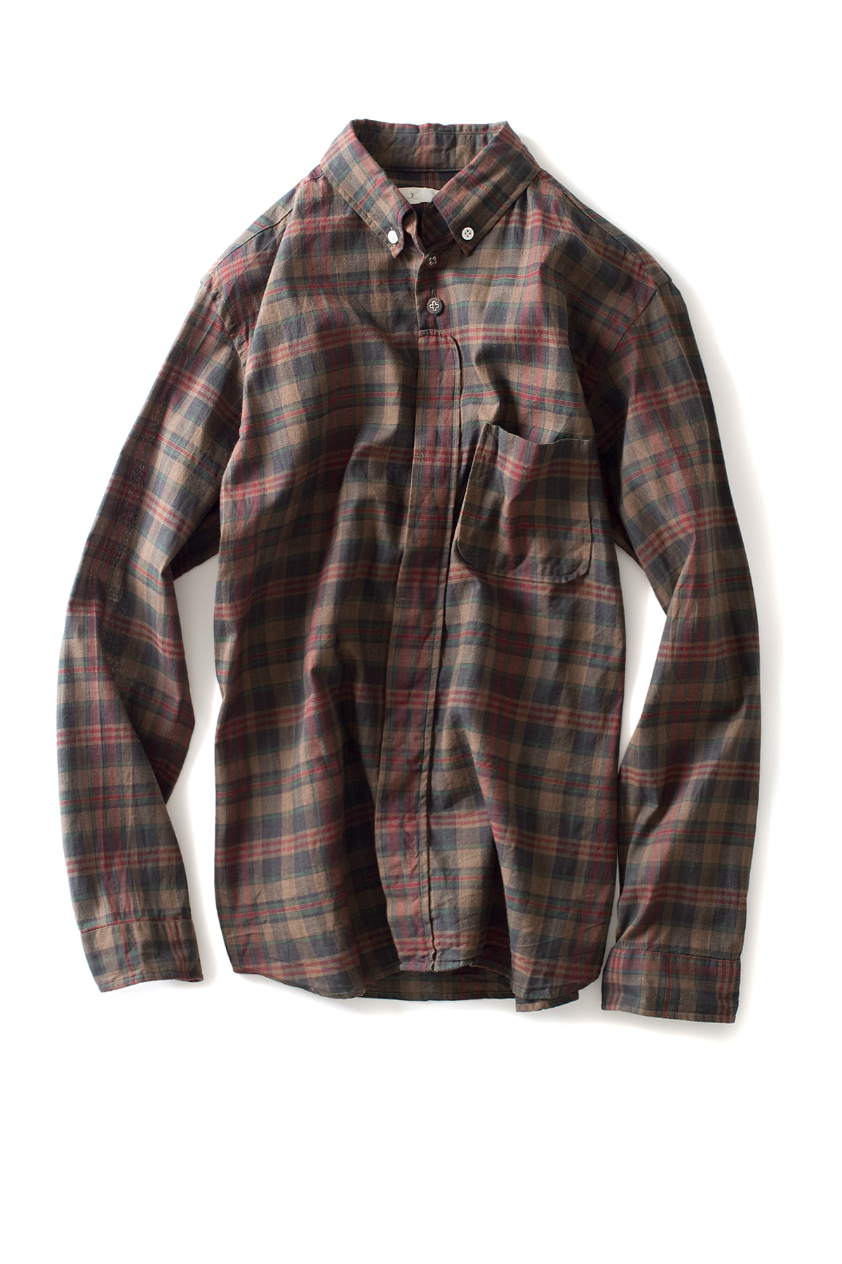 nisica : B.D Check Shirt (Brown)