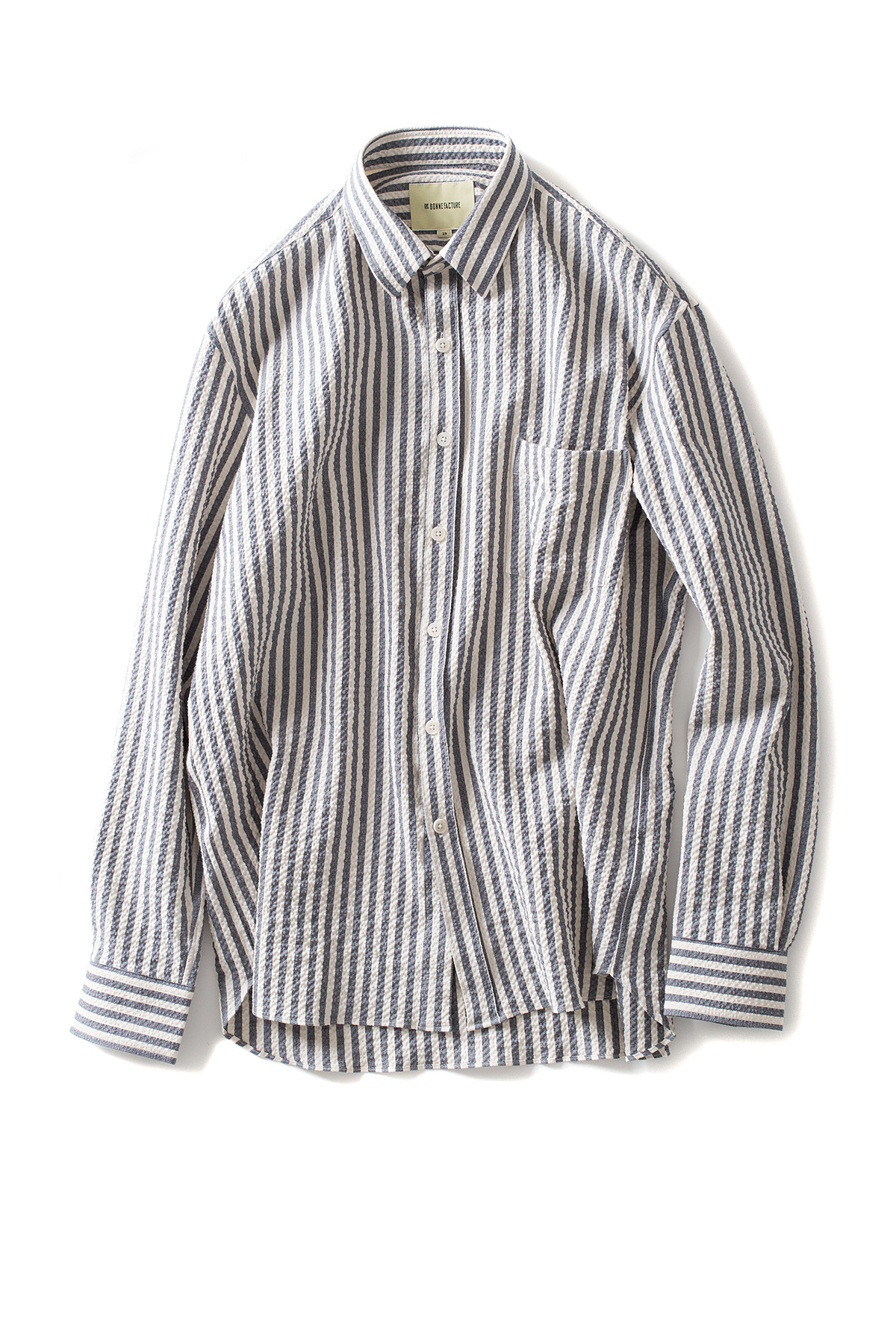 de bonne facture : Oversized Shirt (Blue x White)