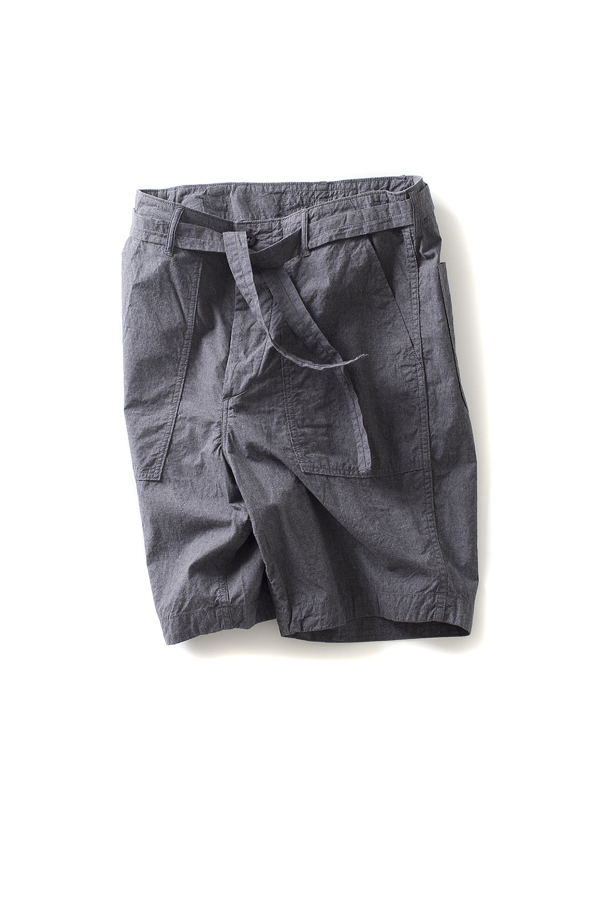 A vontade : Utility Shorts W/Belt (Charcoal)