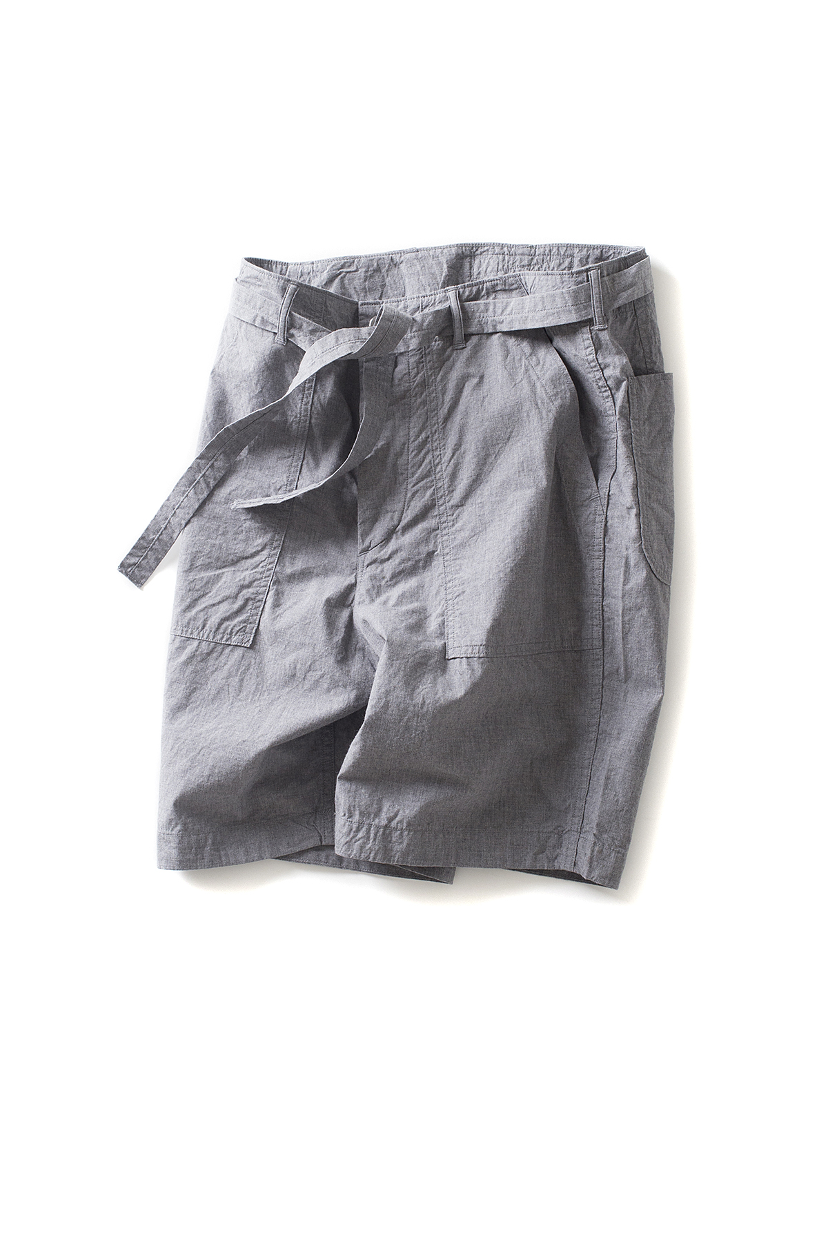 A vontade : Utility Shorts  W/Belt (Grey Top)
