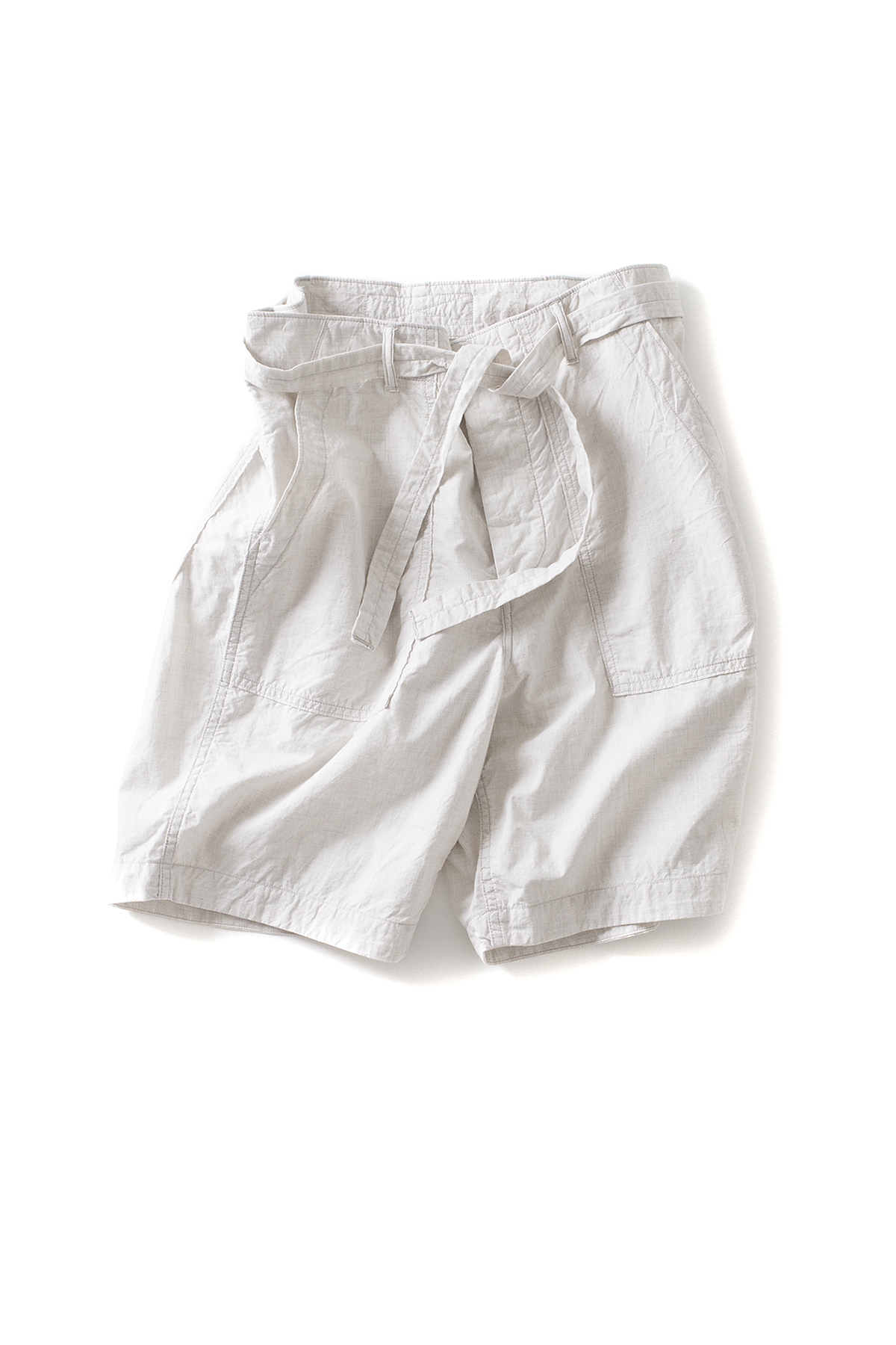 A vontade : Utility Shorts W/Belt (Oatmeal)