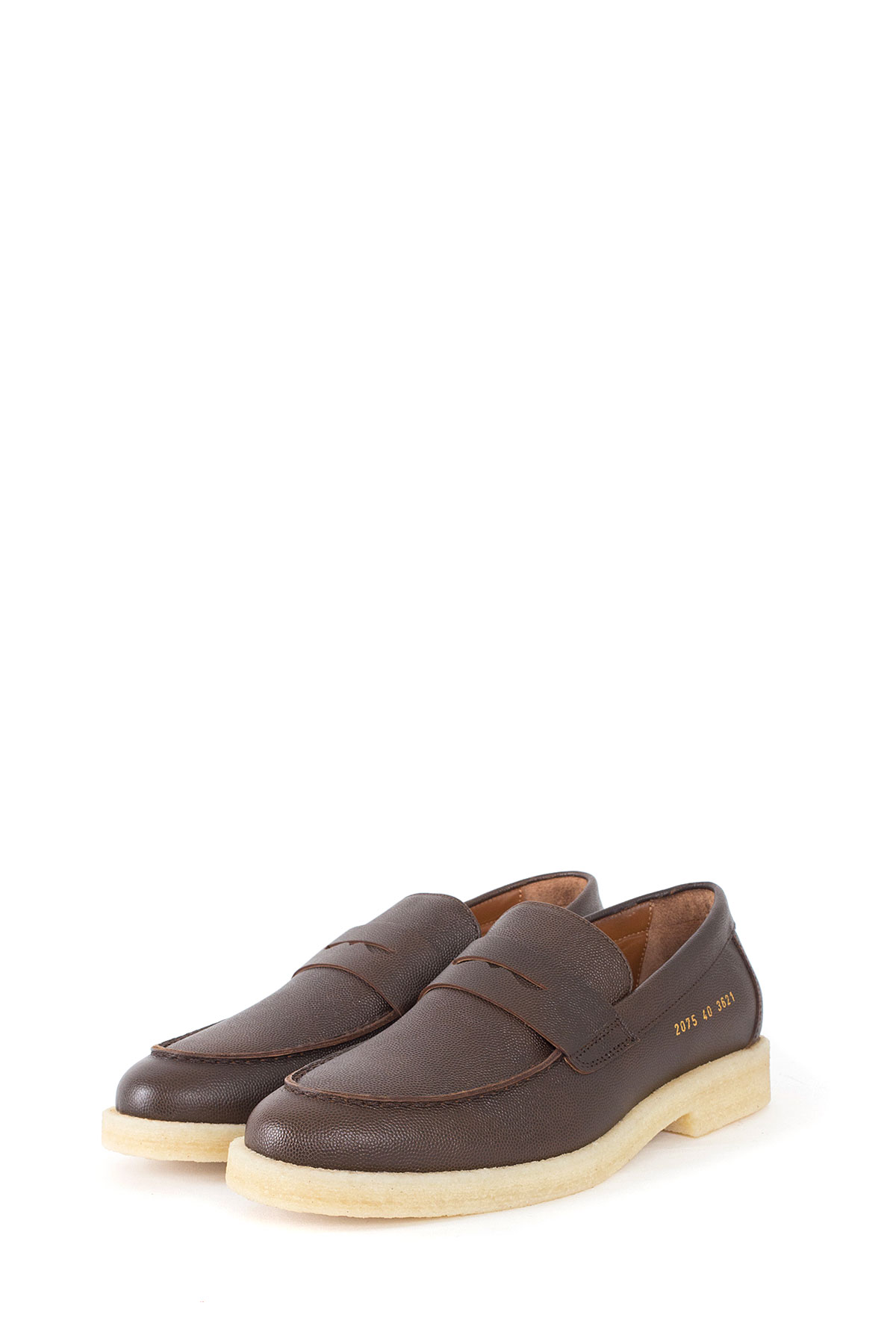 Common Projects : Pebble Grain Leather Penny Loafers (Brown)