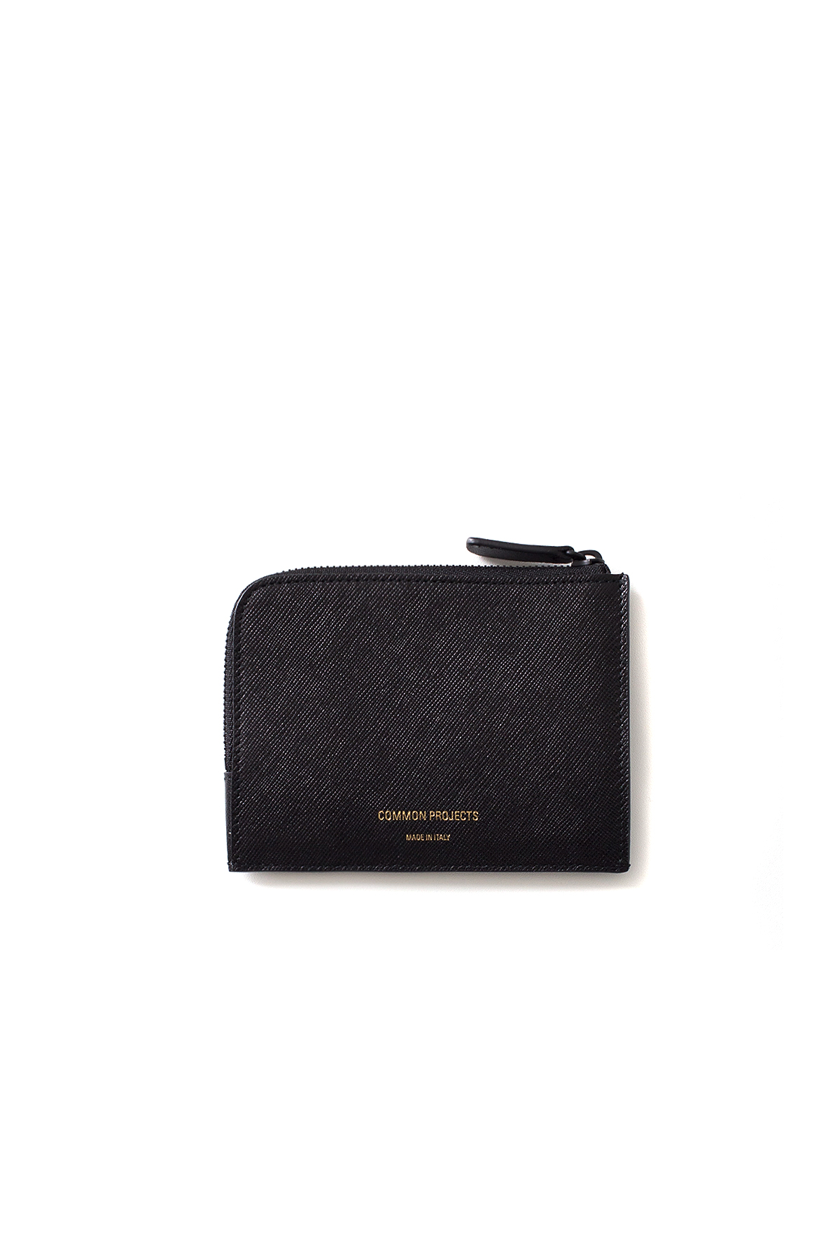 Common Projects : Zipper Wallet In Saffiano Leather 9038 (Black)